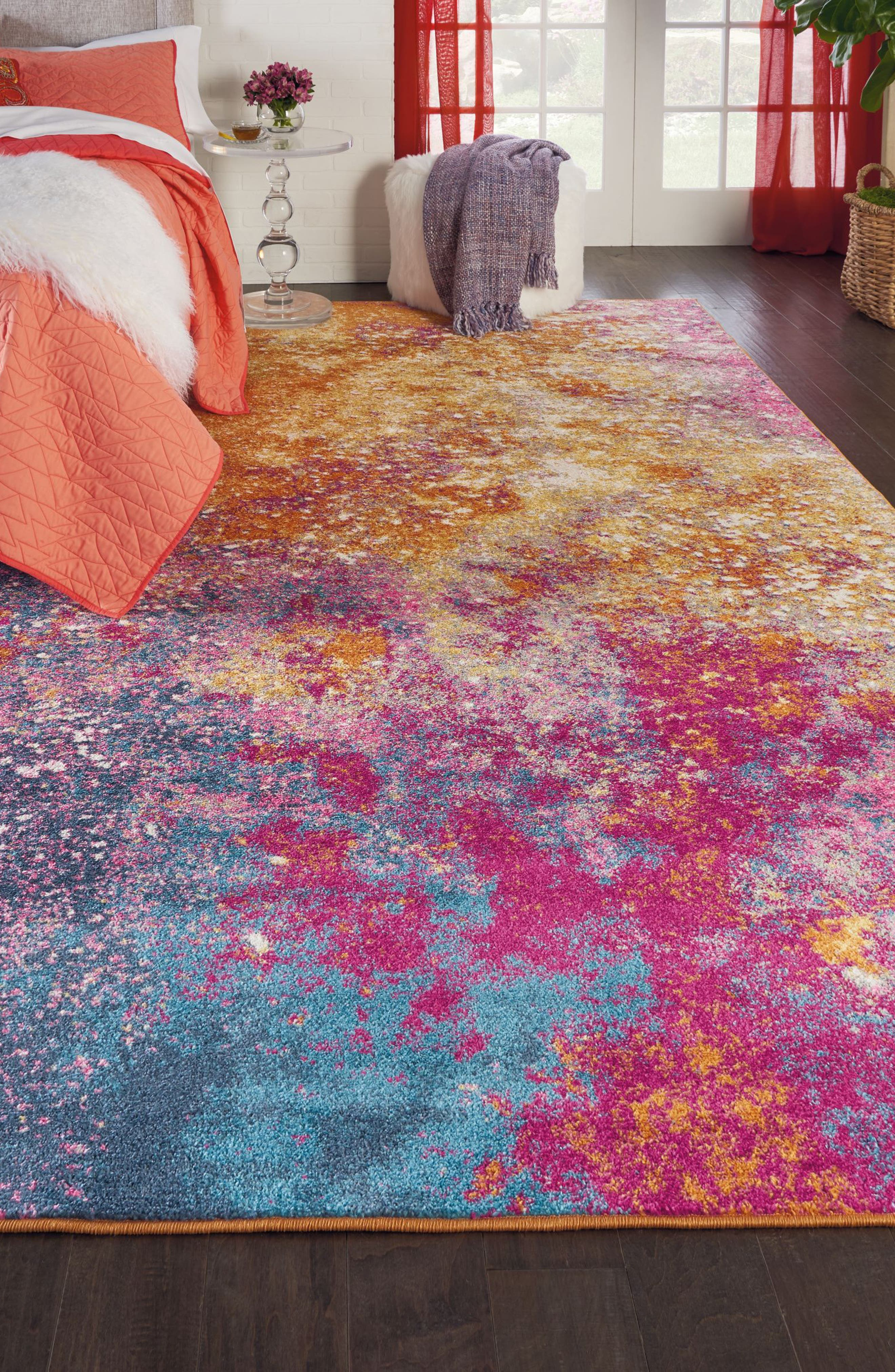 Sunburst Rug,                             Alternate thumbnail 9, color,                             800