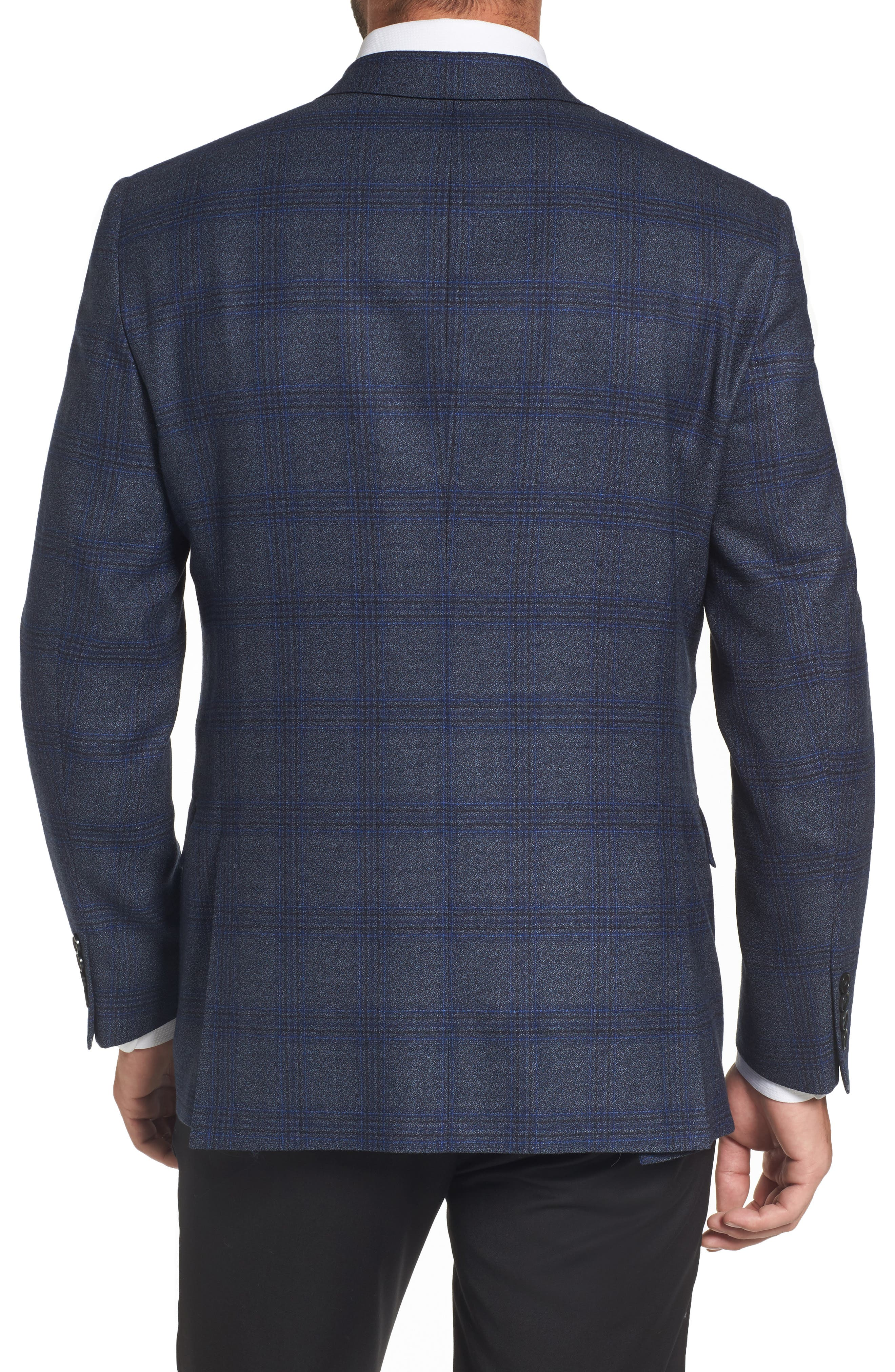 Classic Fit Plaid Wool Sport Coat,                             Alternate thumbnail 2, color,                             401