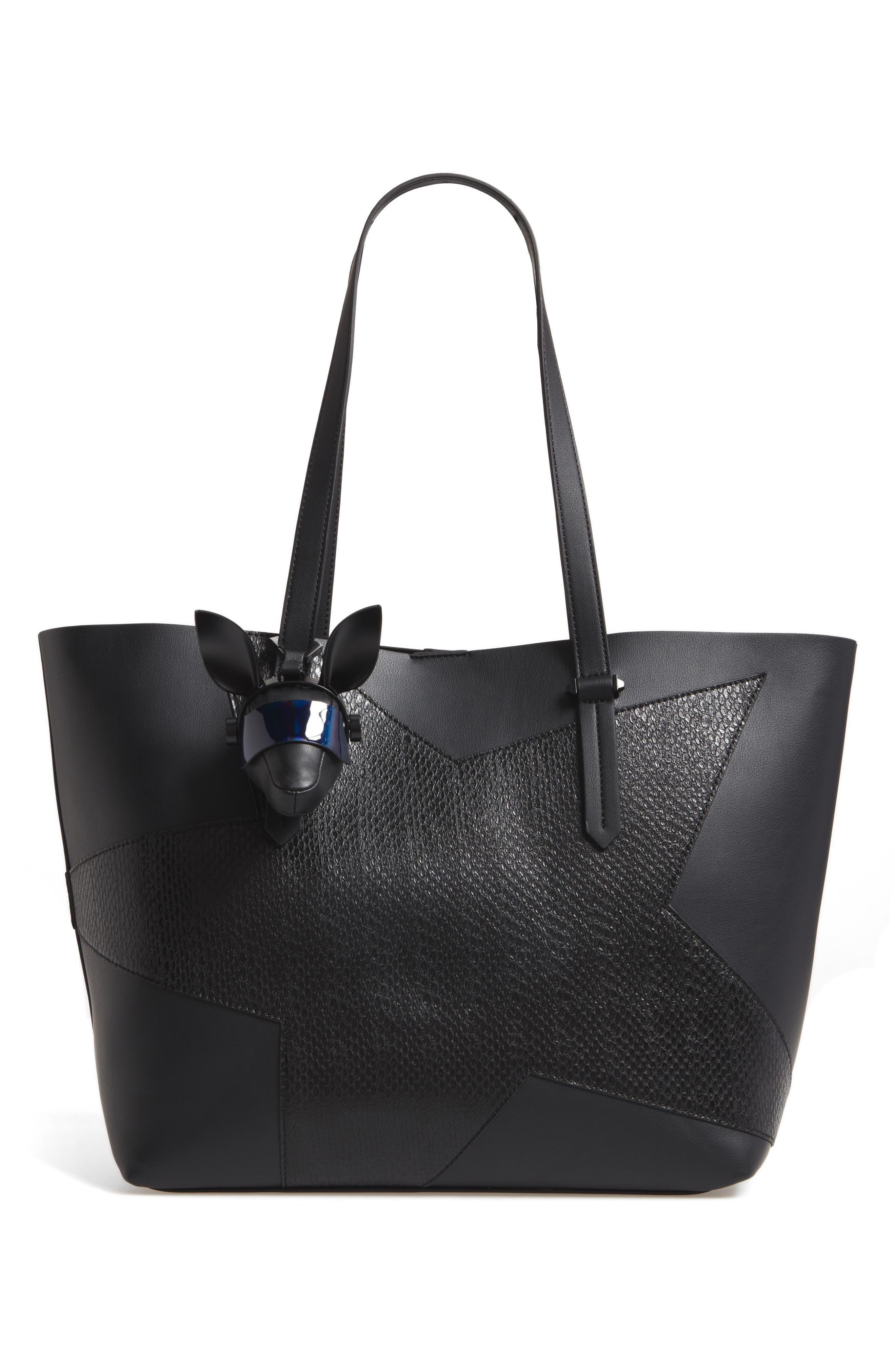 Blu Visor Bag Charm,                             Alternate thumbnail 5, color,