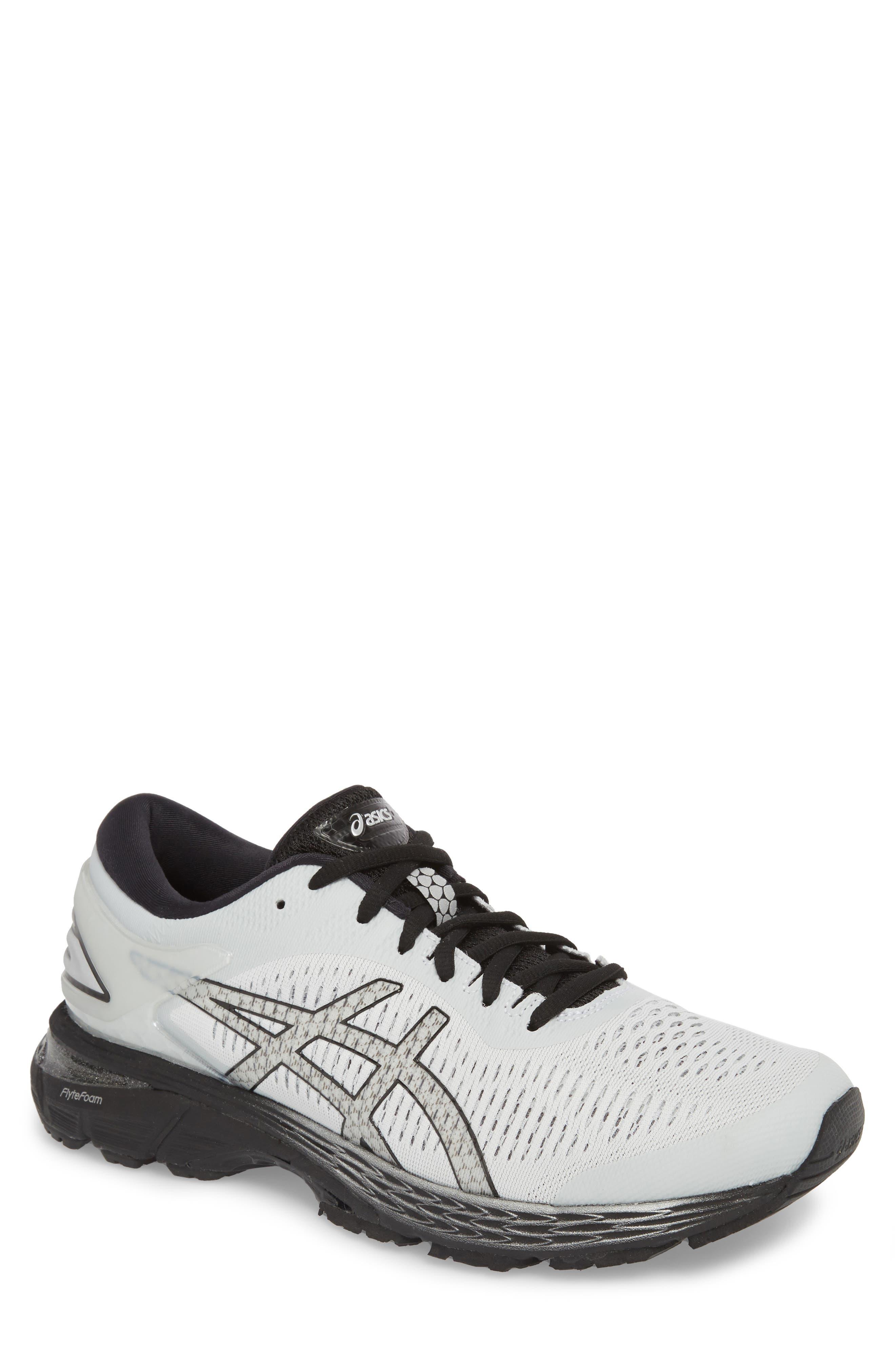 GEL-Kayano<sup>®</sup> 25 Running Shoe, Main, color, GLACIER GREY/ BLACK
