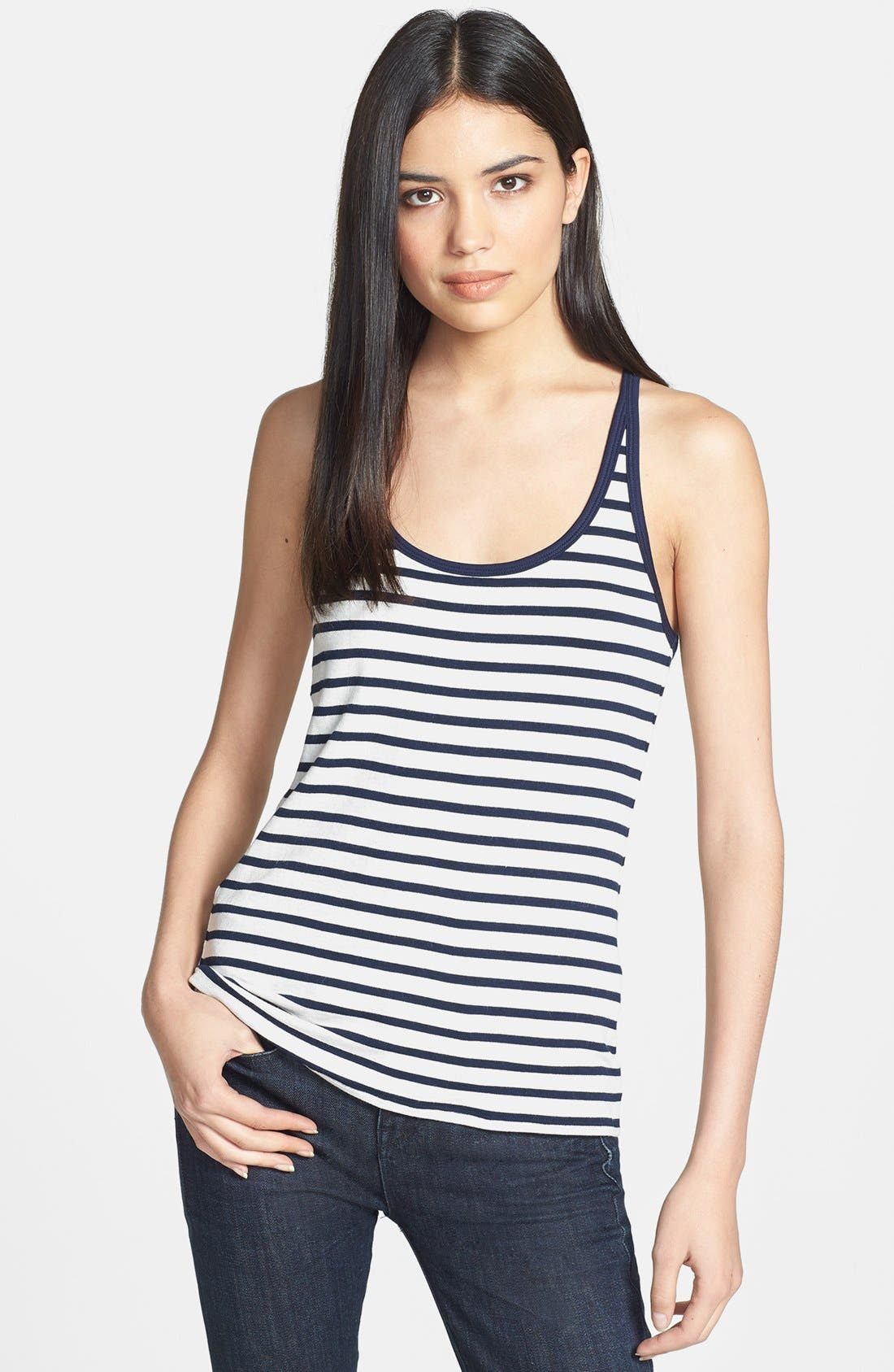 'Matey' Stripe French Terry Tank,                         Main,                         color, 411