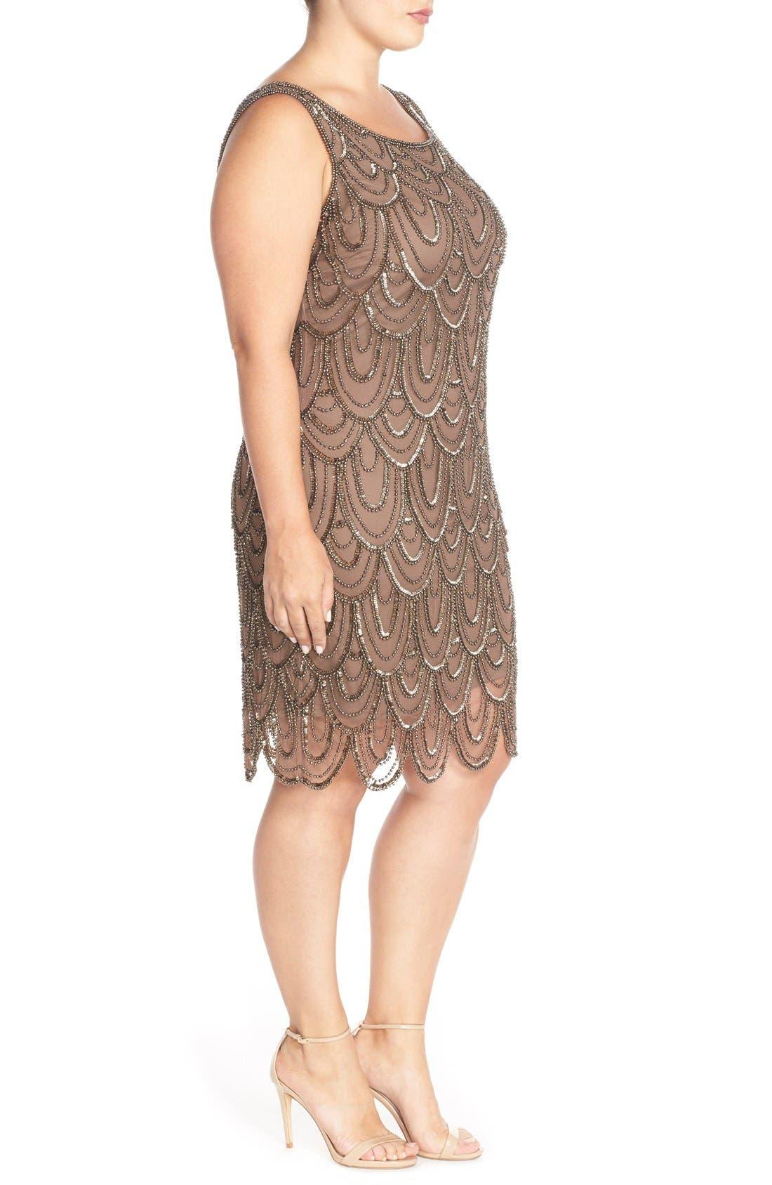 Beaded Sheath Dress,                             Alternate thumbnail 32, color,