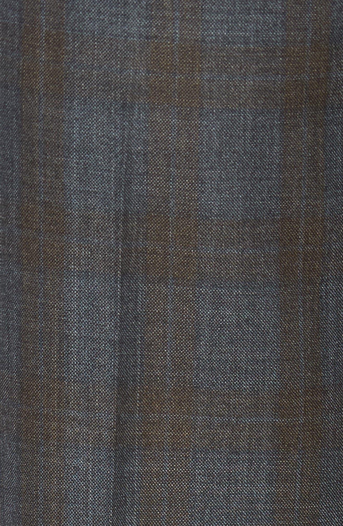 Parker Flat Front Plaid Wool Trousers,                             Alternate thumbnail 2, color,                             021