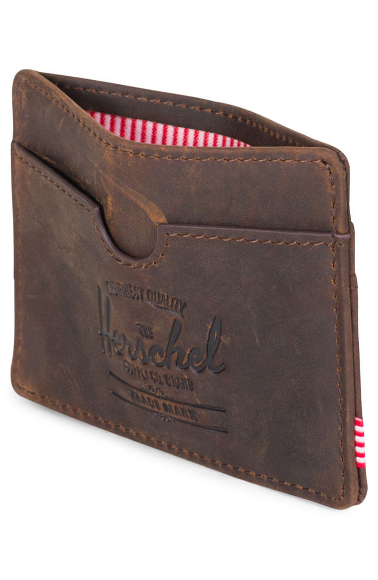 Charlie Leather Card Case,                             Alternate thumbnail 7, color,