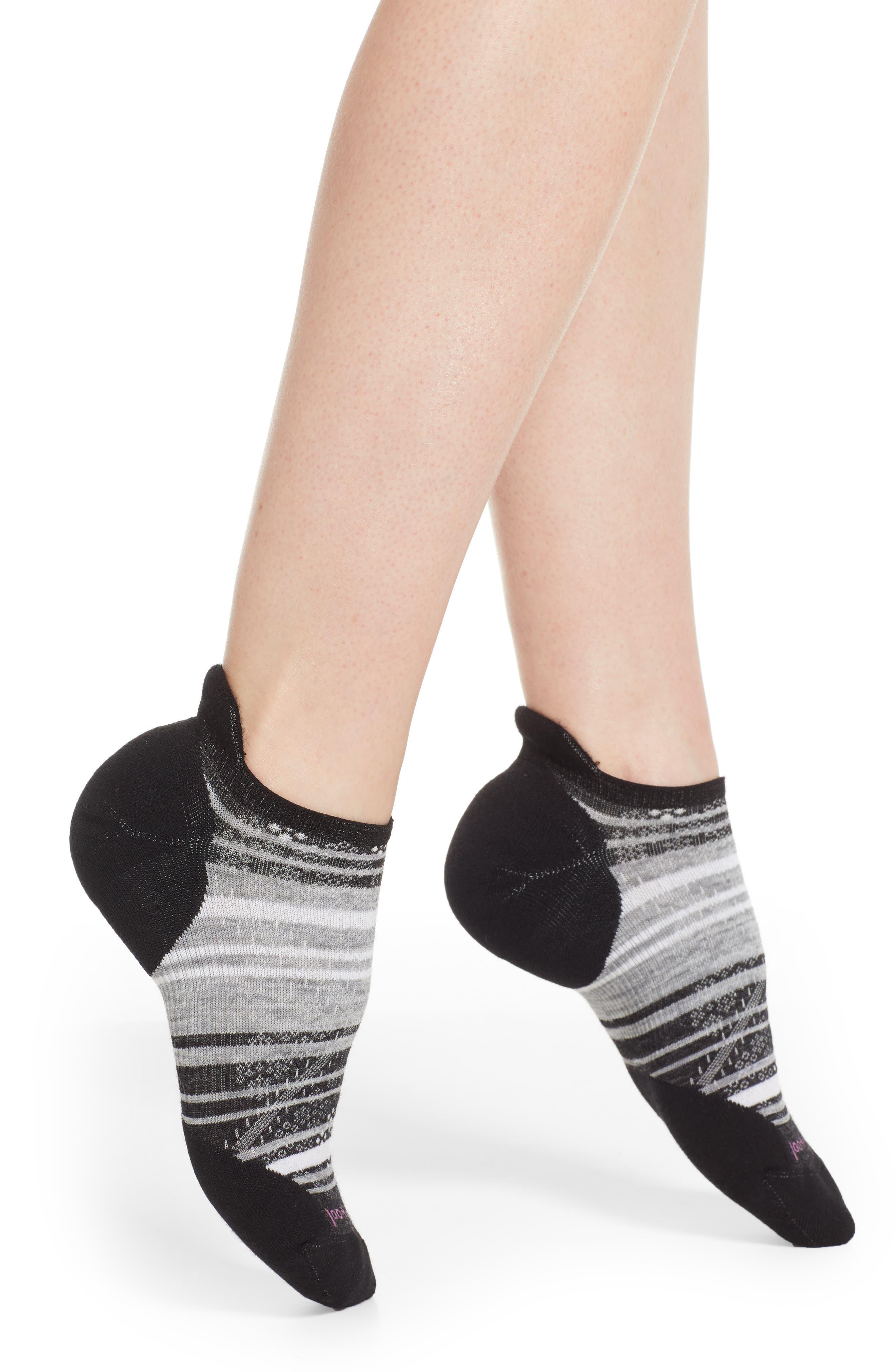 PhD<sup>®</sup> Run Light Elite Socks,                             Main thumbnail 1, color,                             BLACK/ LIGHT GRAY