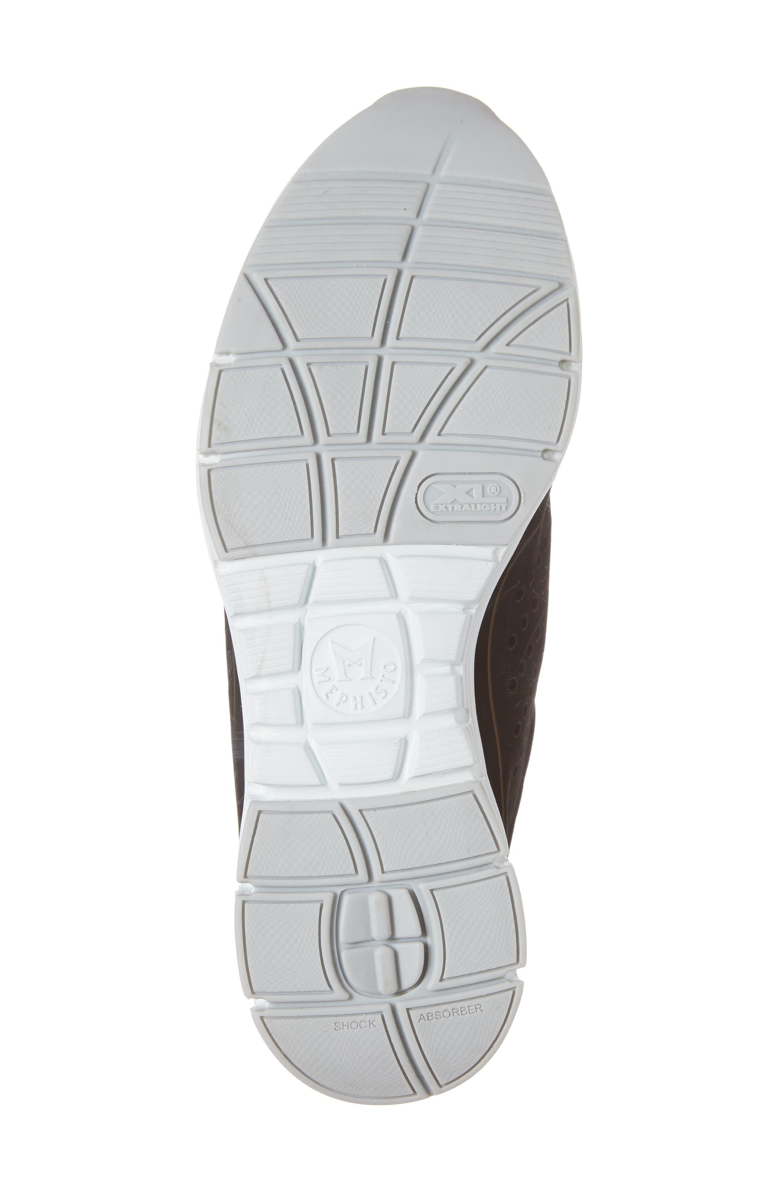 Yliane Sneaker,                             Alternate thumbnail 6, color,                             BLACK NUBUCK LEATHER