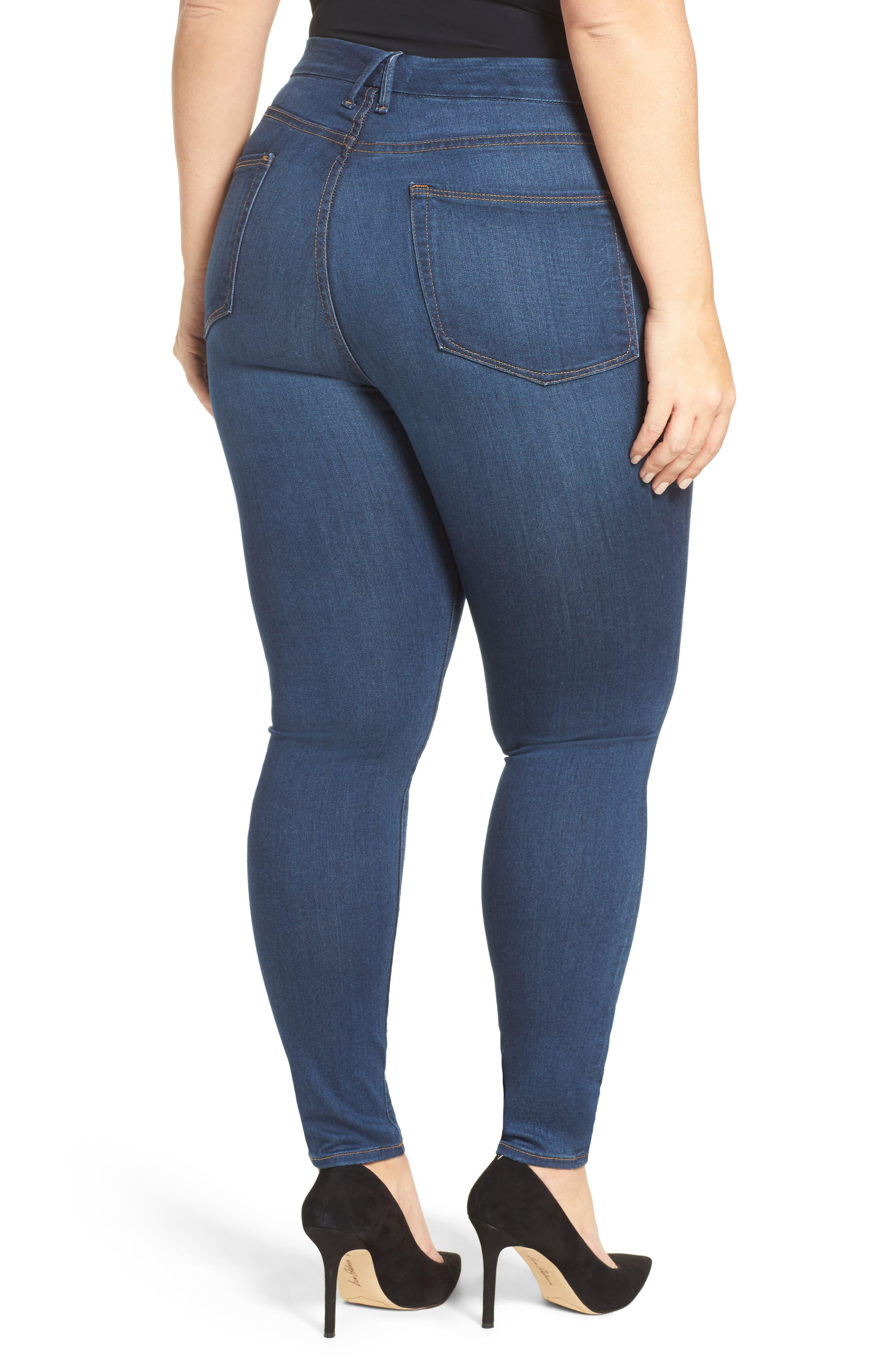 Good Waist High Rise Skinny Jeans,                             Alternate thumbnail 2, color,                             BLUE013