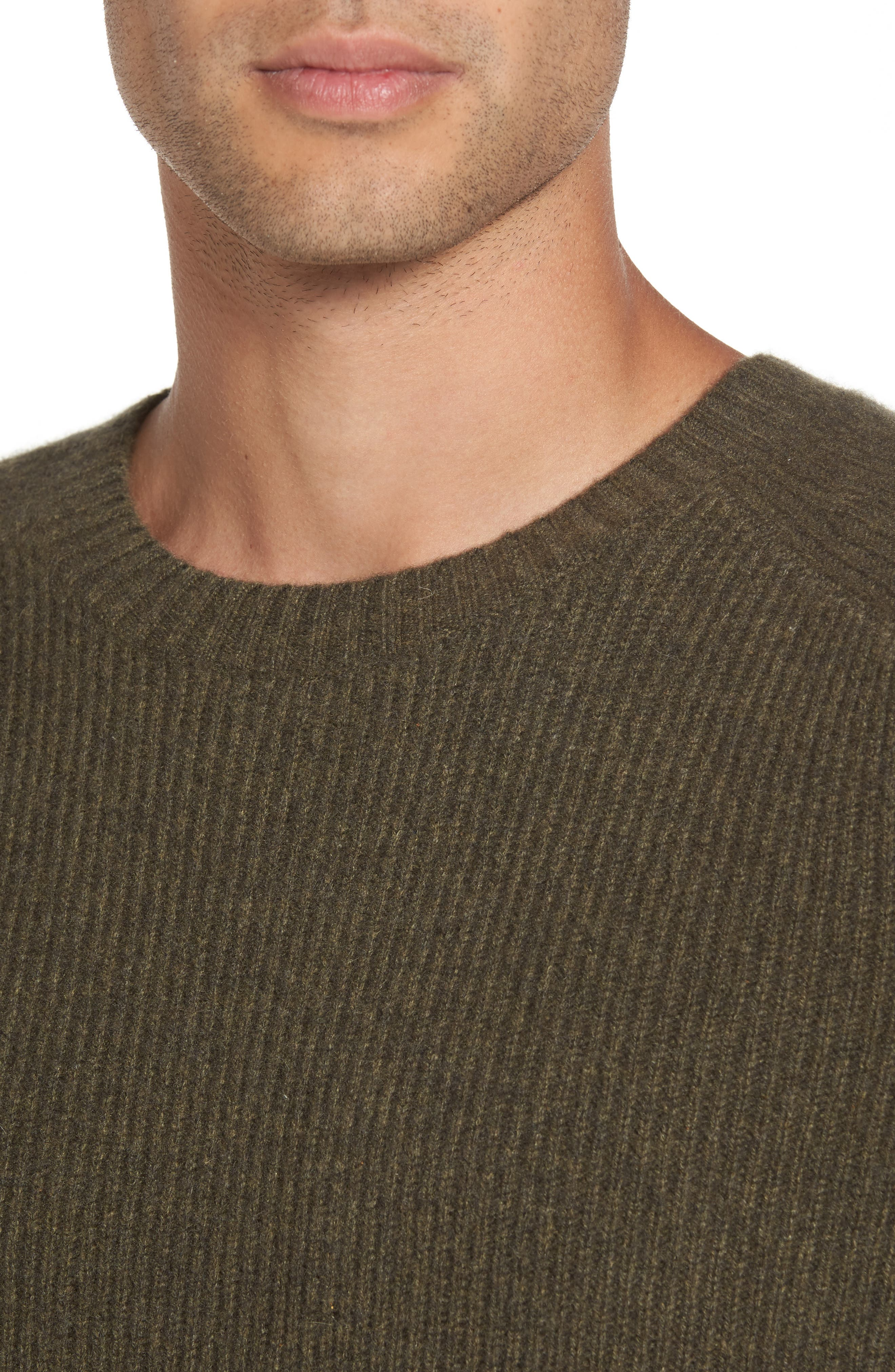 Ribbed Wool & Cashmere Raglan Sweater,                             Alternate thumbnail 14, color,