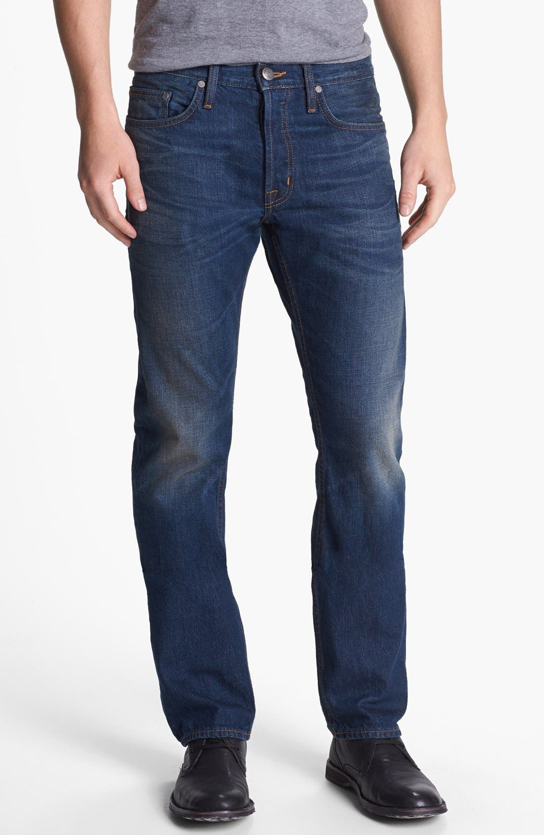 '1874 Monte Carlo' Straight Leg Selvedge Jeans,                             Main thumbnail 1, color,                             420