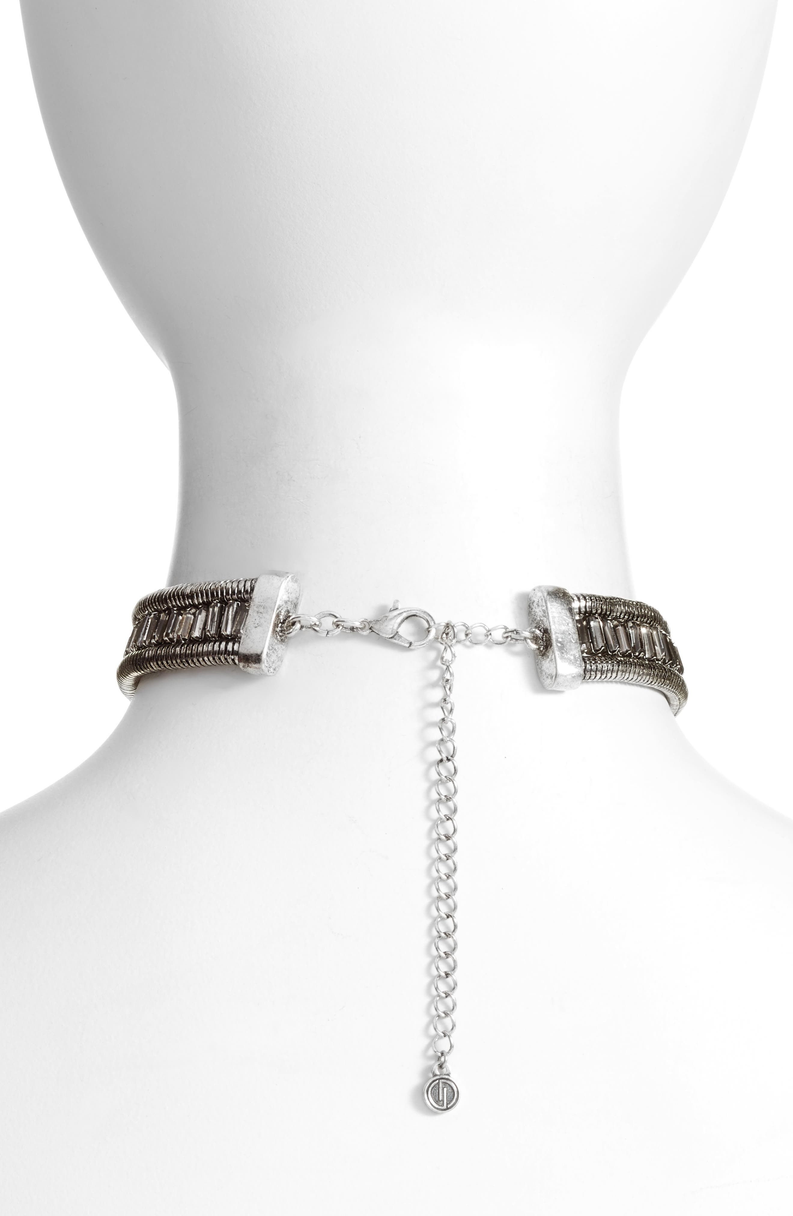 Crystal Choker Necklace,                             Alternate thumbnail 2, color,                             040