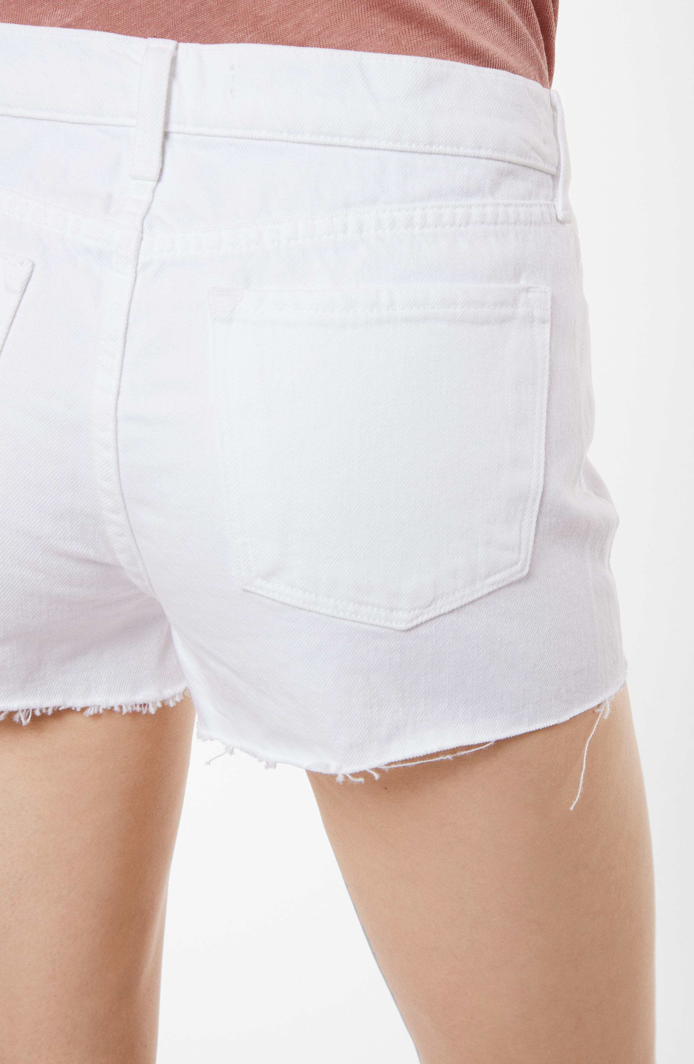 J BRAND,                             Raw Hem Denim Shorts,                             Alternate thumbnail 5, color,                             109