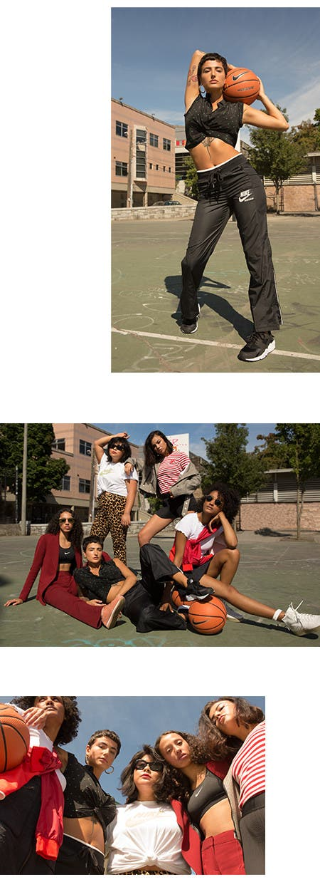 Nordstrom x Nike: pick-up game editorial.