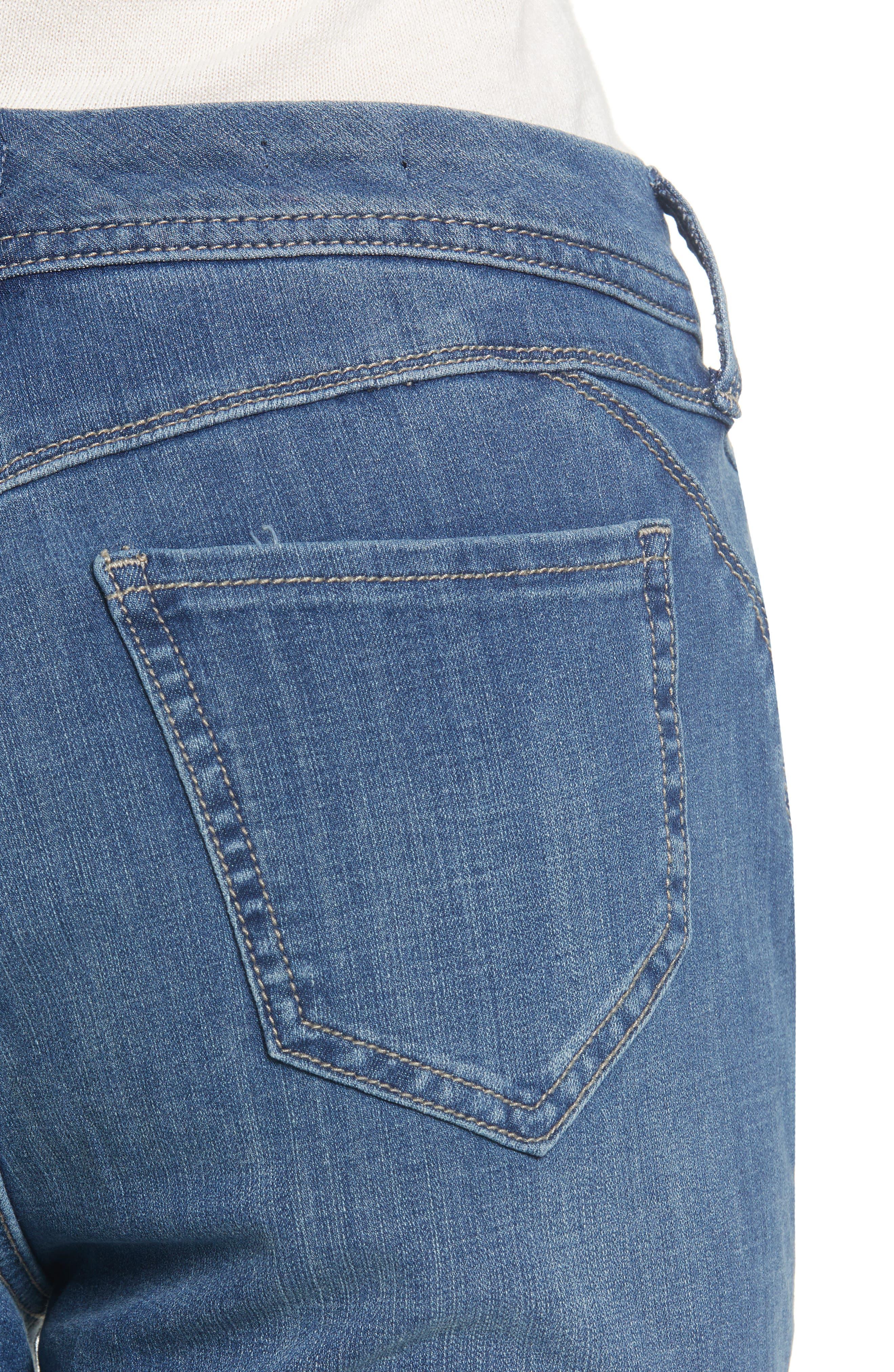 Release Hem Skinny Jeans,                             Alternate thumbnail 4, color,                             LEAR