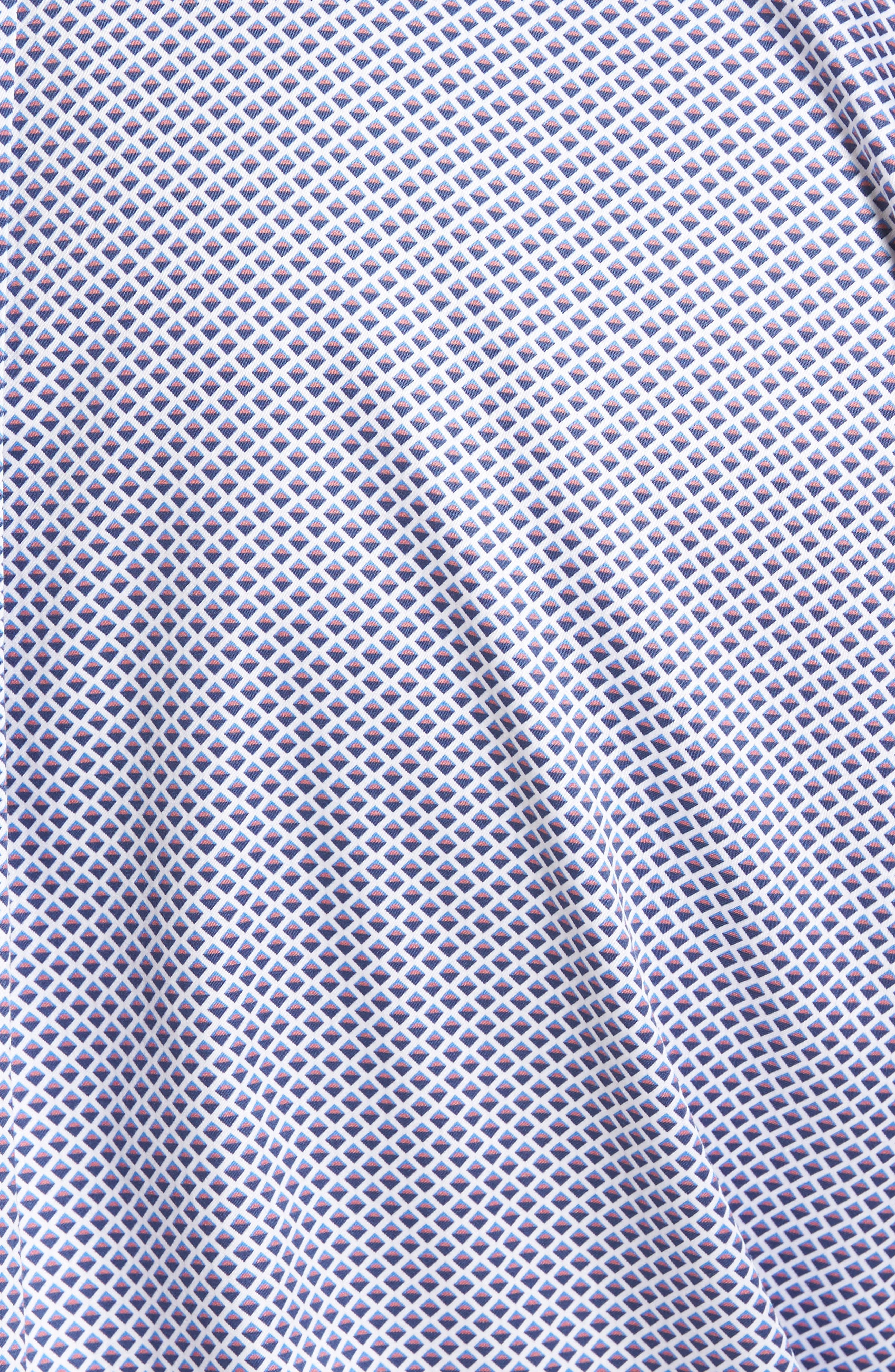 Geometric Horizon Sport Shirt,                             Alternate thumbnail 5, color,                             627