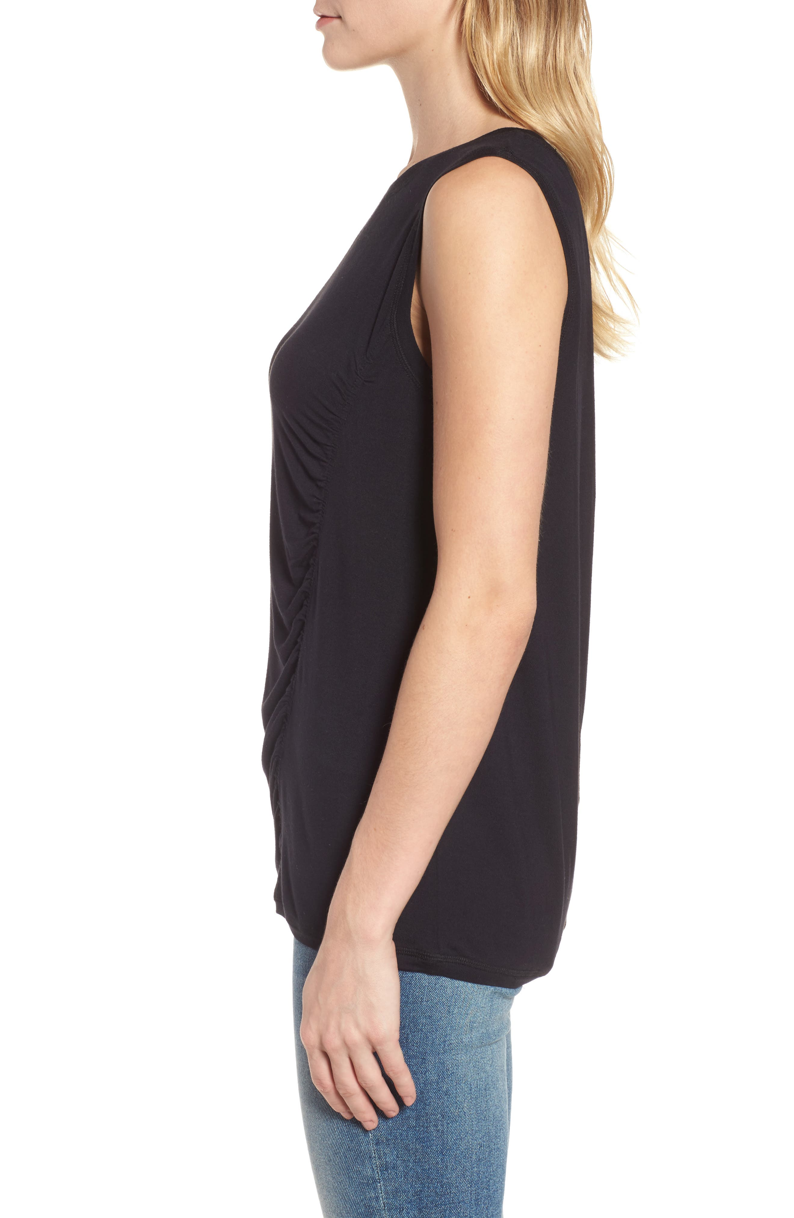 Off-Duty Shirred Sleeveless Tee,                             Alternate thumbnail 11, color,