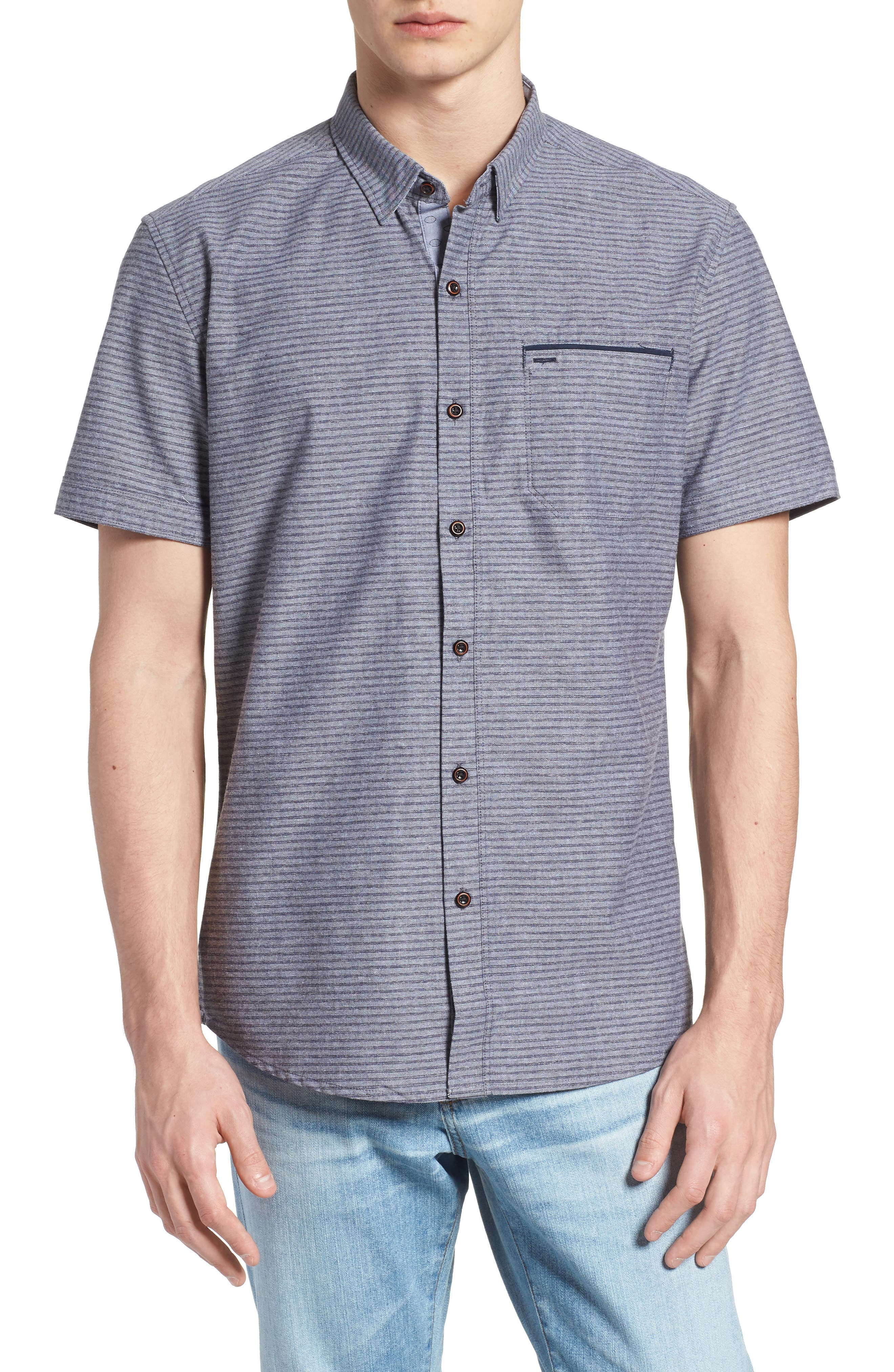 The Crunch Slim Fit Short Sleeve Sport Shirt,                             Main thumbnail 1, color,                             060