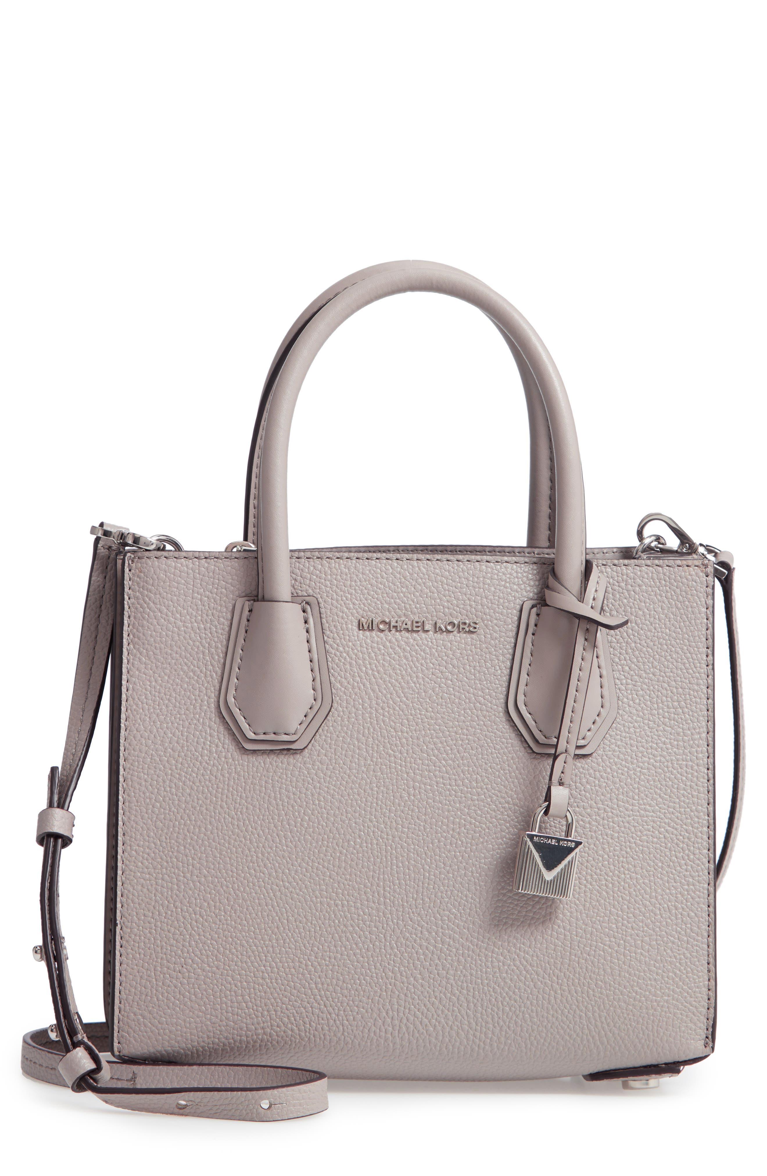 fa8f3cafa61342 MICHAEL MICHAEL KORS. Medium Mercer Convertible Leather Tote - Grey in Pearl  Grey