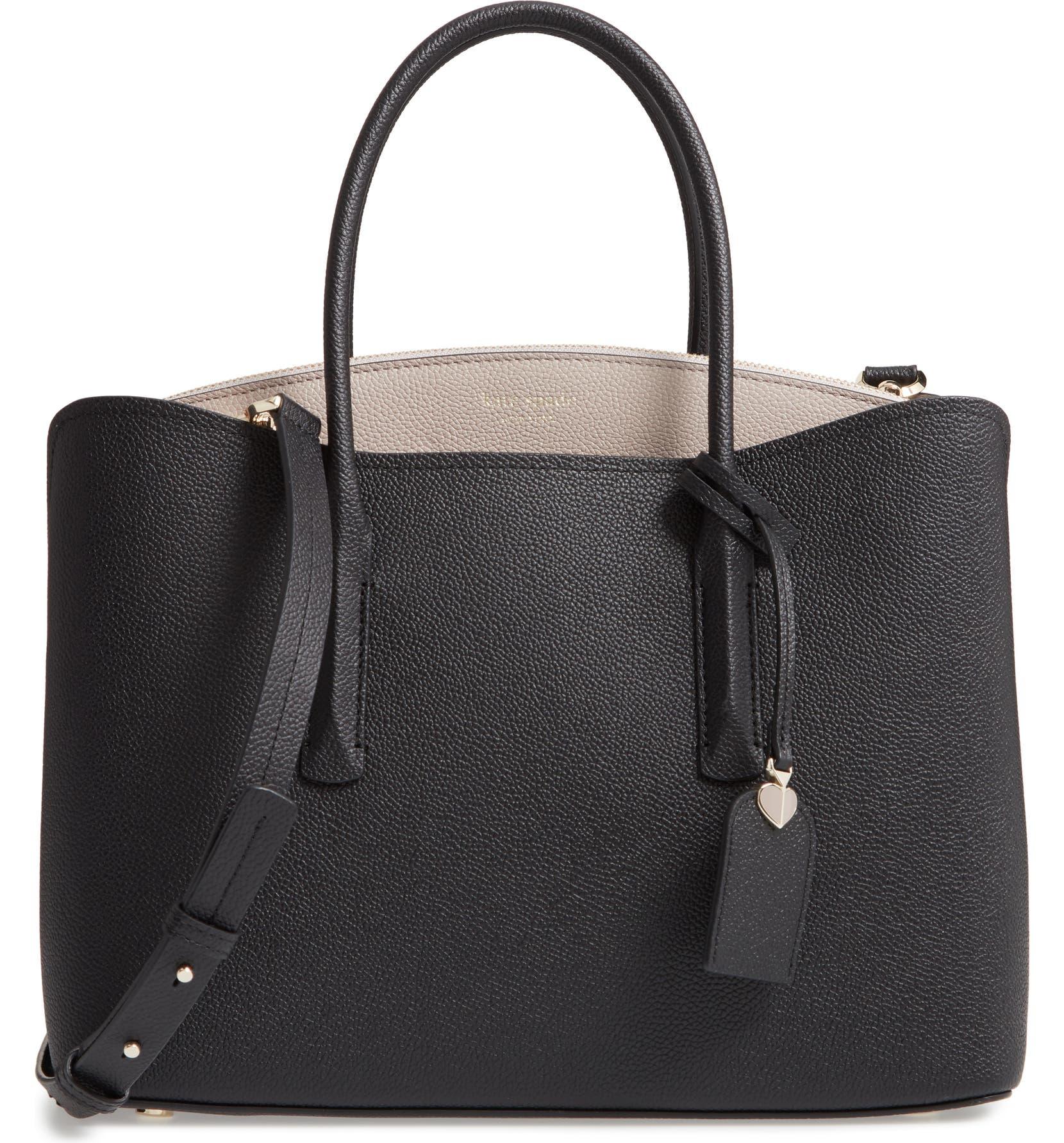 fabfd19546b4 large margaux leather satchel