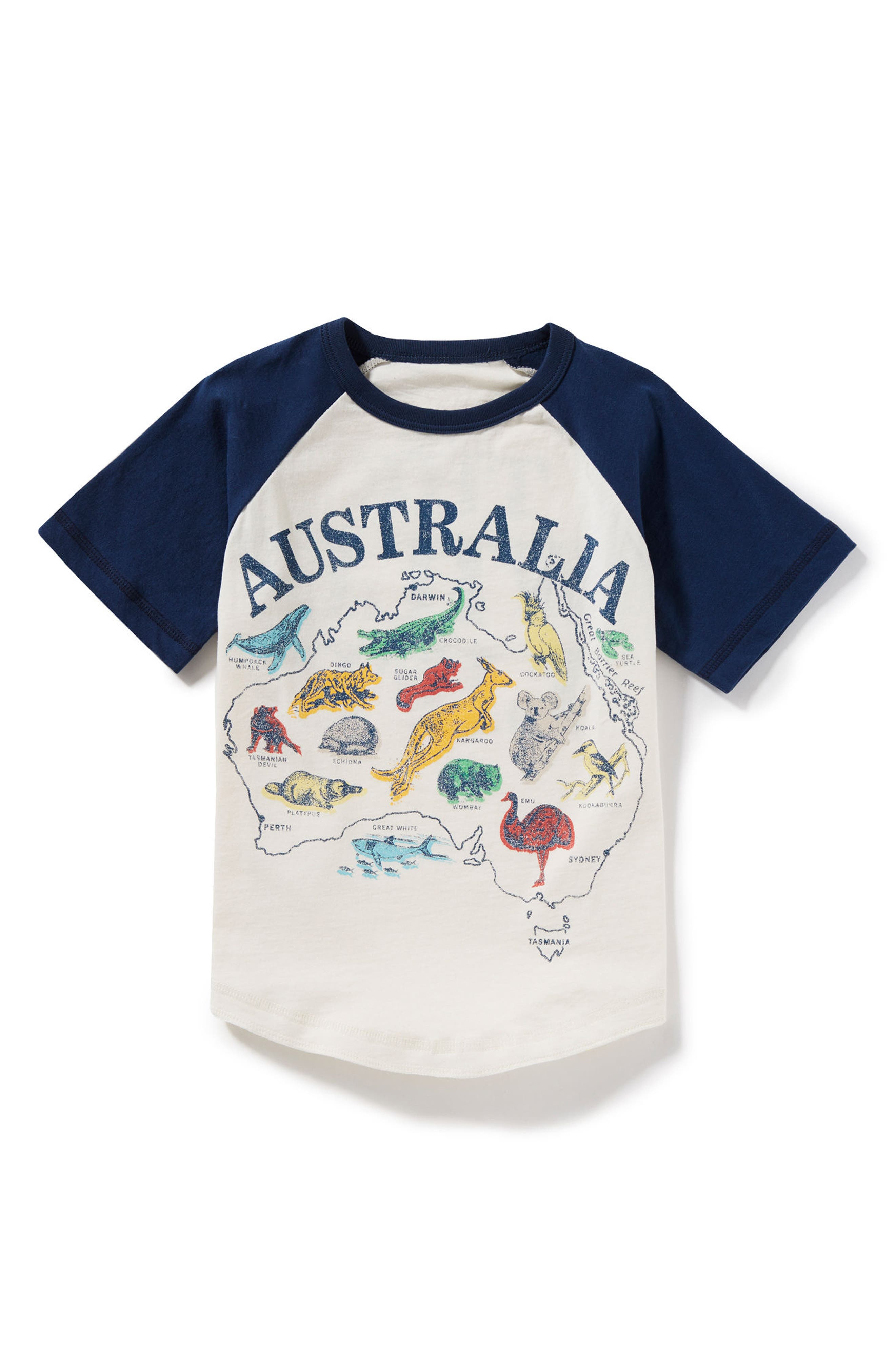 Australia Raglan T-Shirt,                             Main thumbnail 1, color,                             900