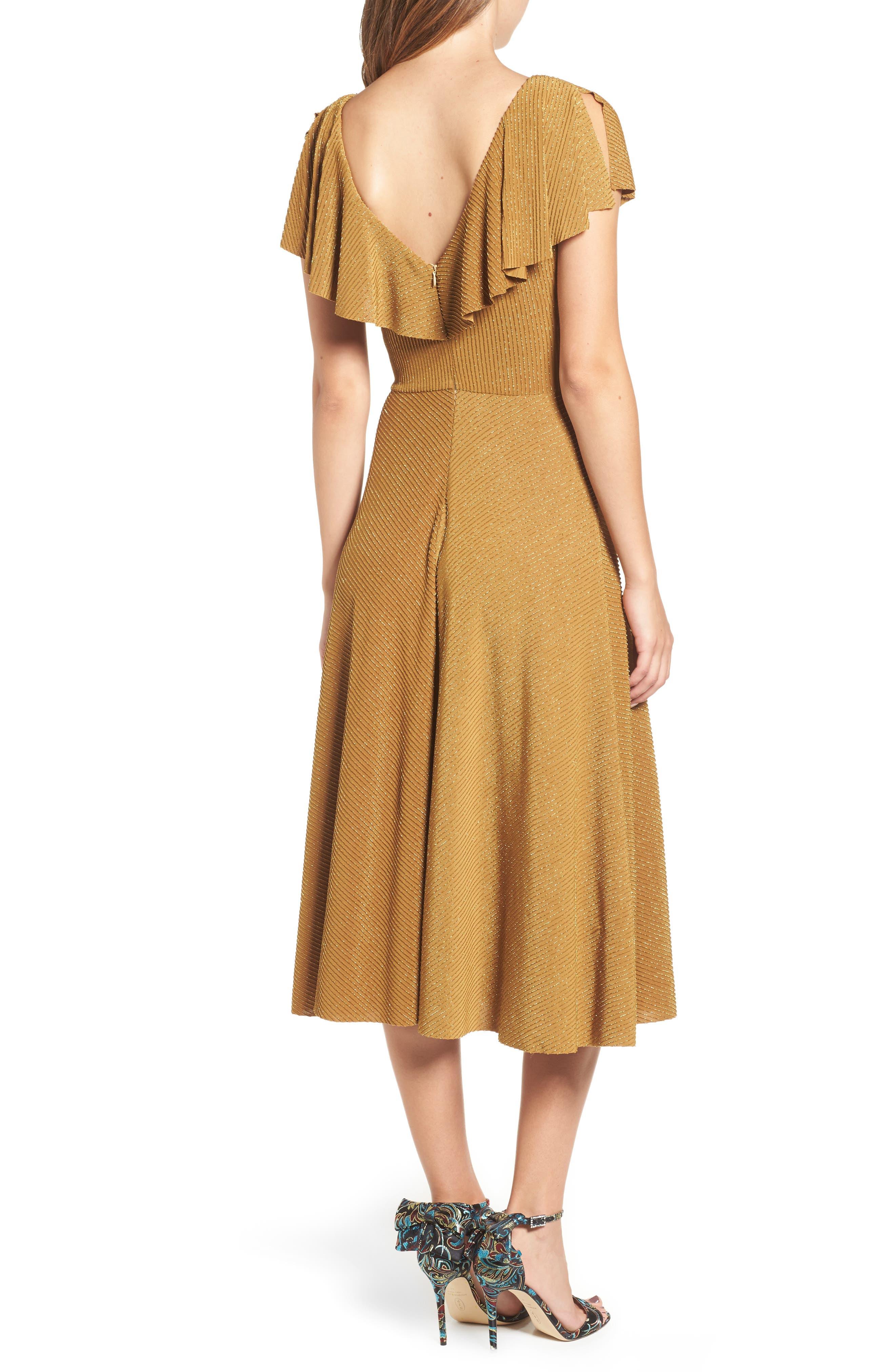 Ruffle Midi Dress,                             Alternate thumbnail 2, color,                             710