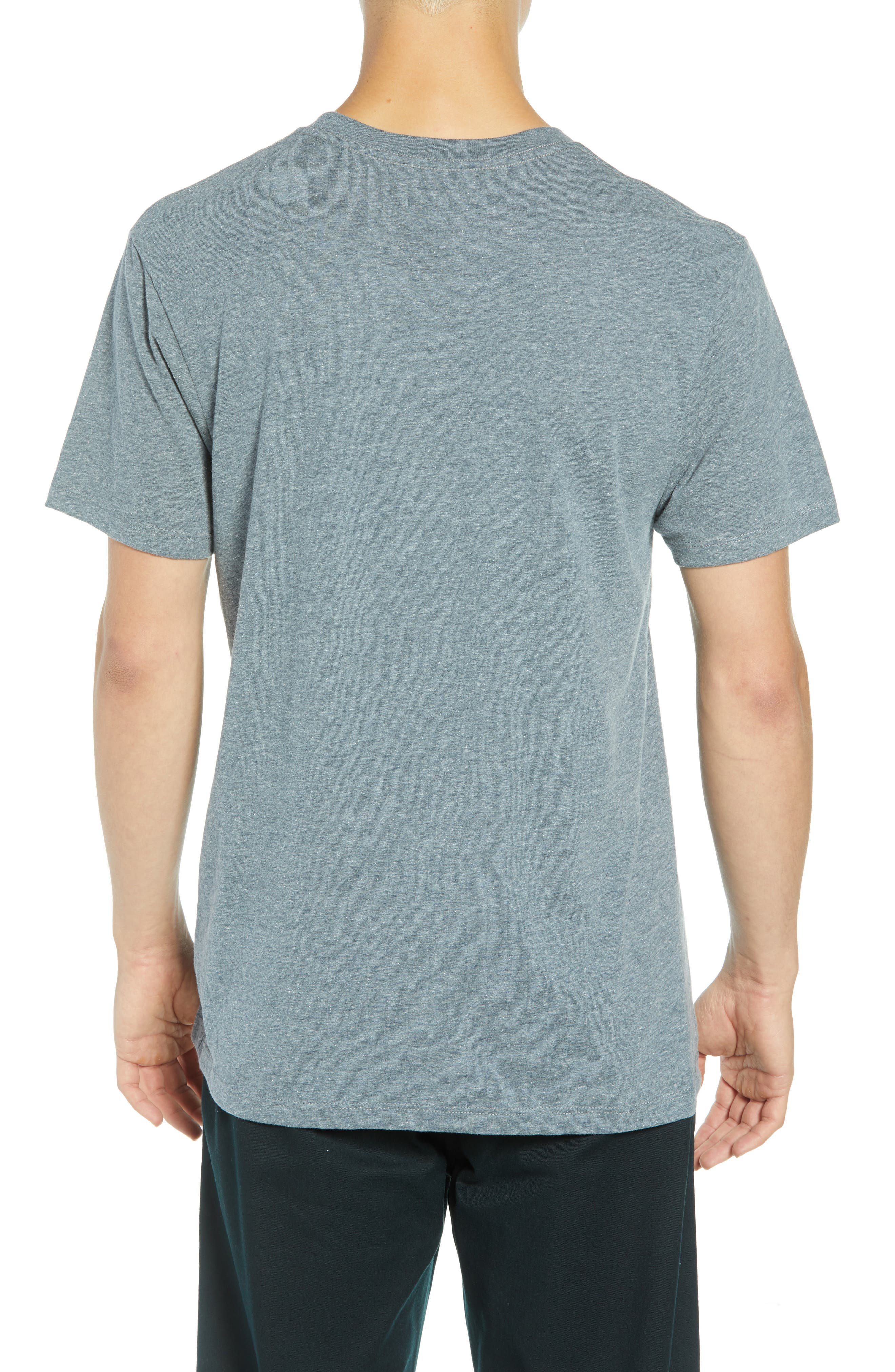 Print Box Graphic T-Shirt,                             Alternate thumbnail 2, color,                             HEATHER GREY/ PEACE OUT FLORAL