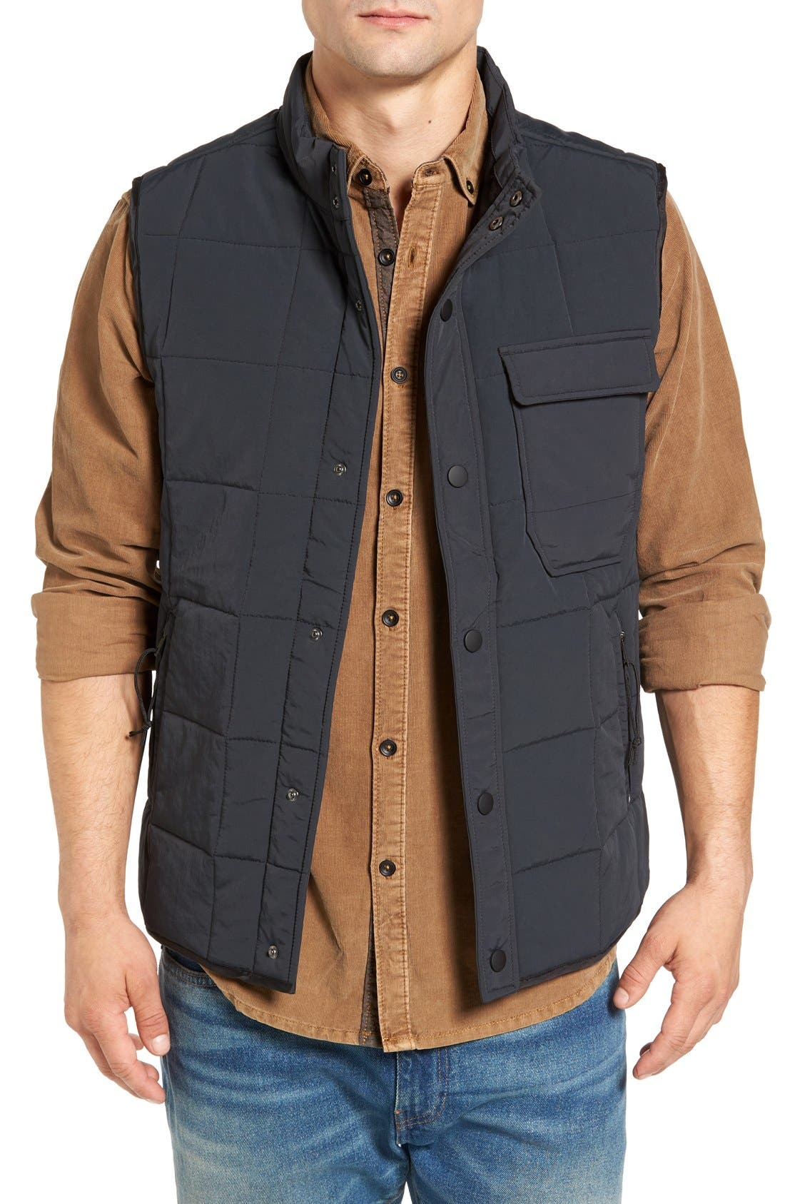 Quilted Vest,                         Main,                         color, 001