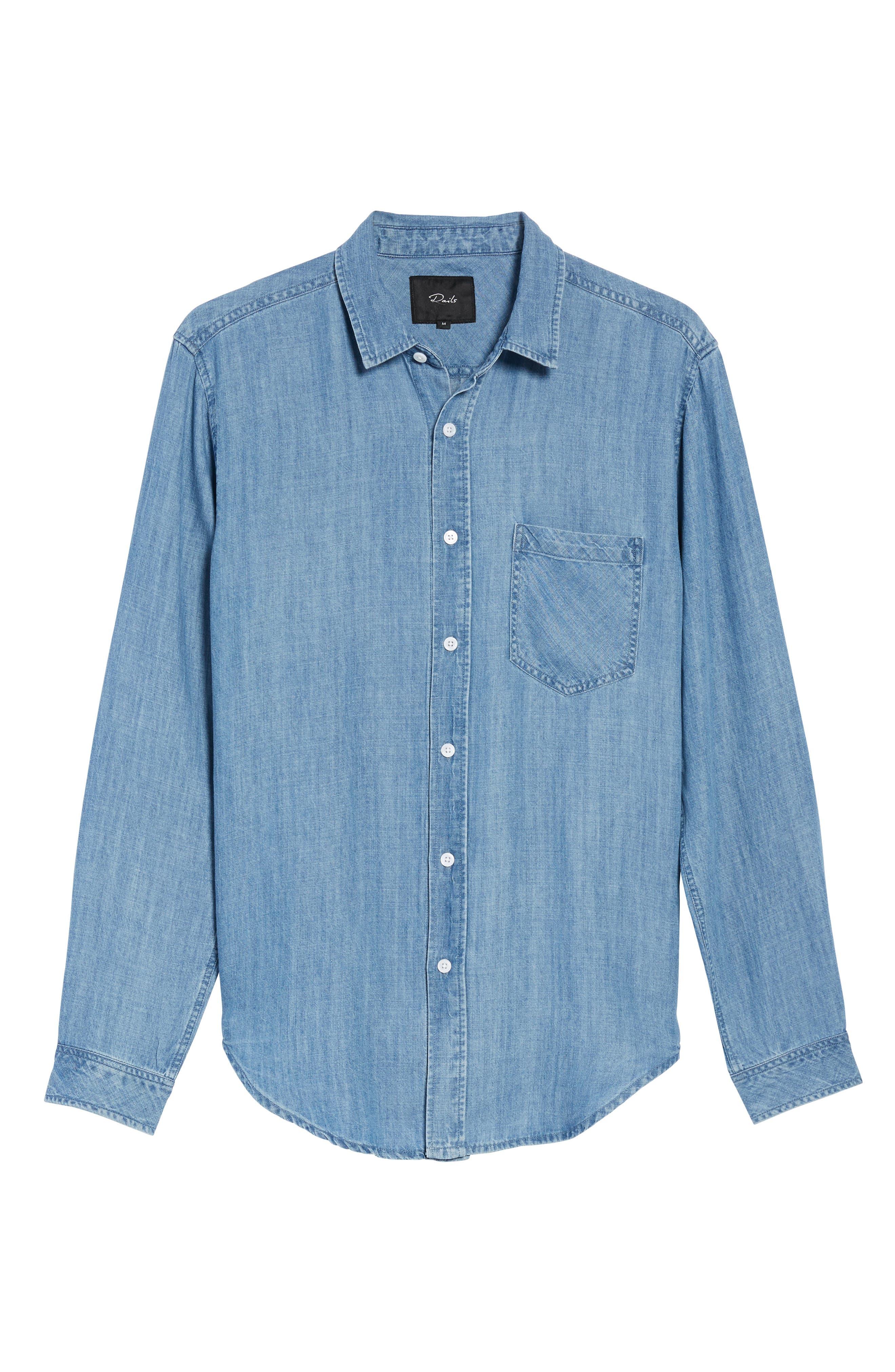 Colton Denim Shirt,                             Alternate thumbnail 6, color,                             MEDIUM VINTAGE WASH