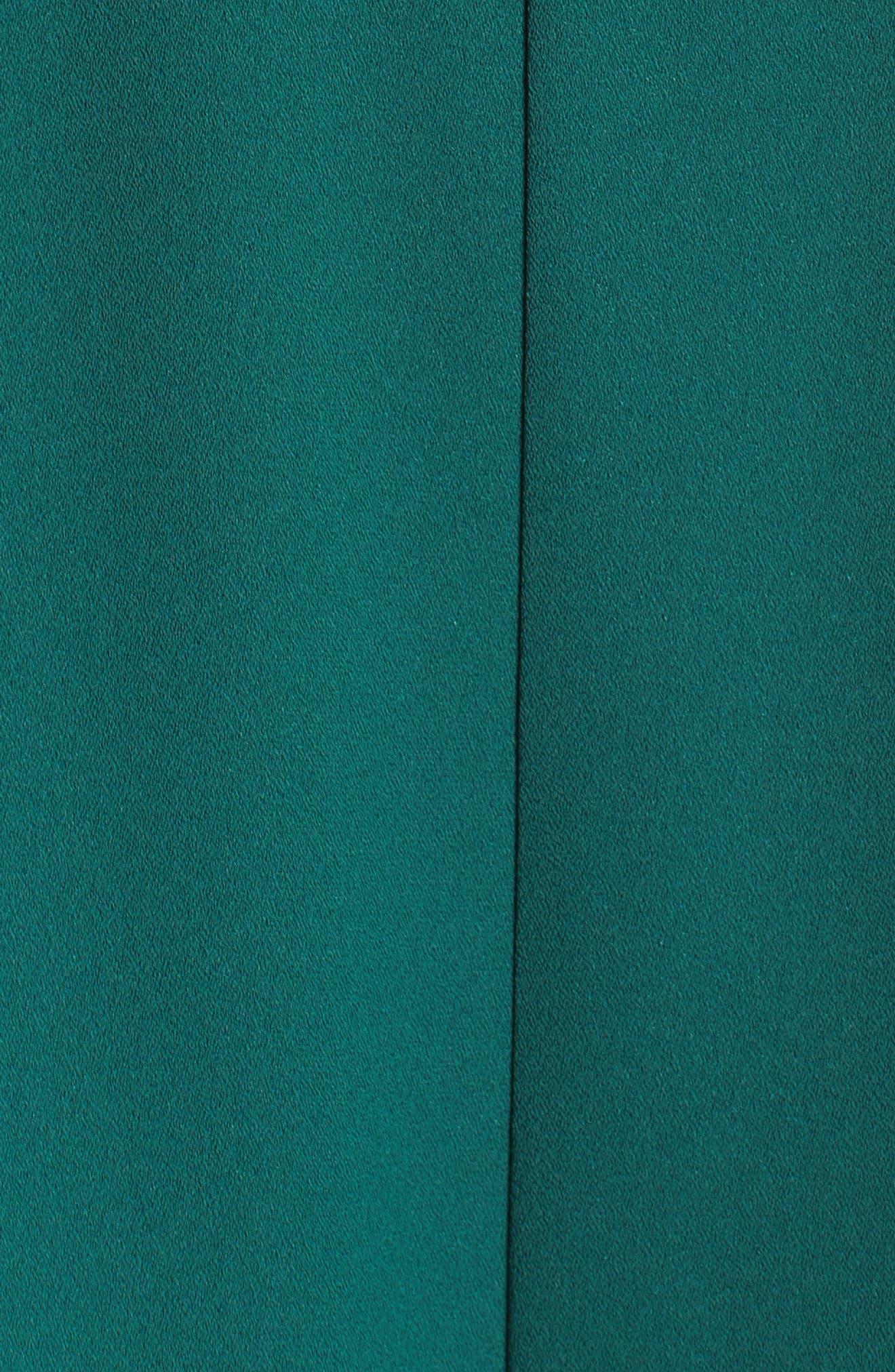 Strapless Crepe Jumpsuit,                             Alternate thumbnail 5, color,