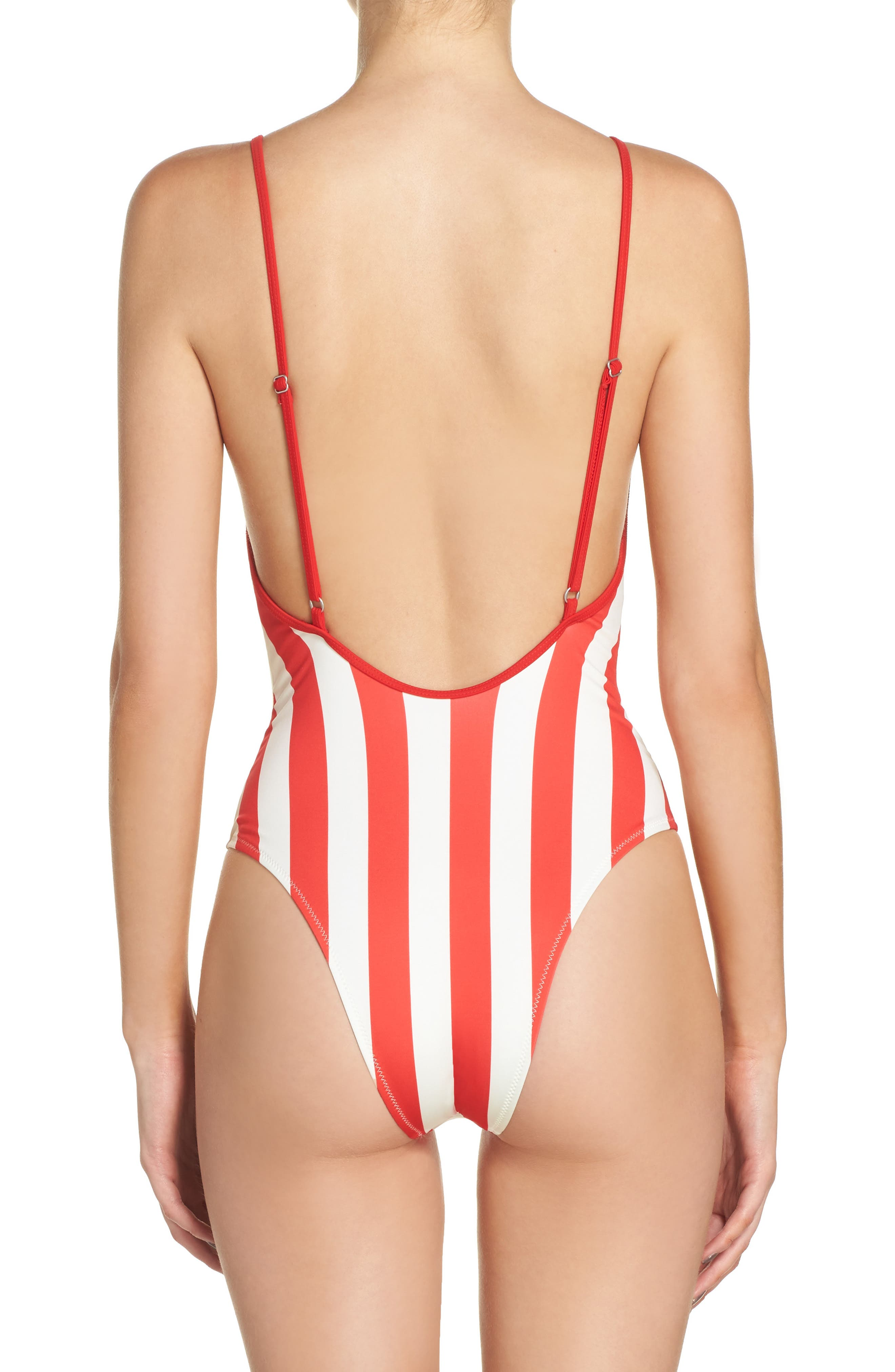 Striped & Solid Chelsea One-Piece Swimsuit,                             Alternate thumbnail 3, color,