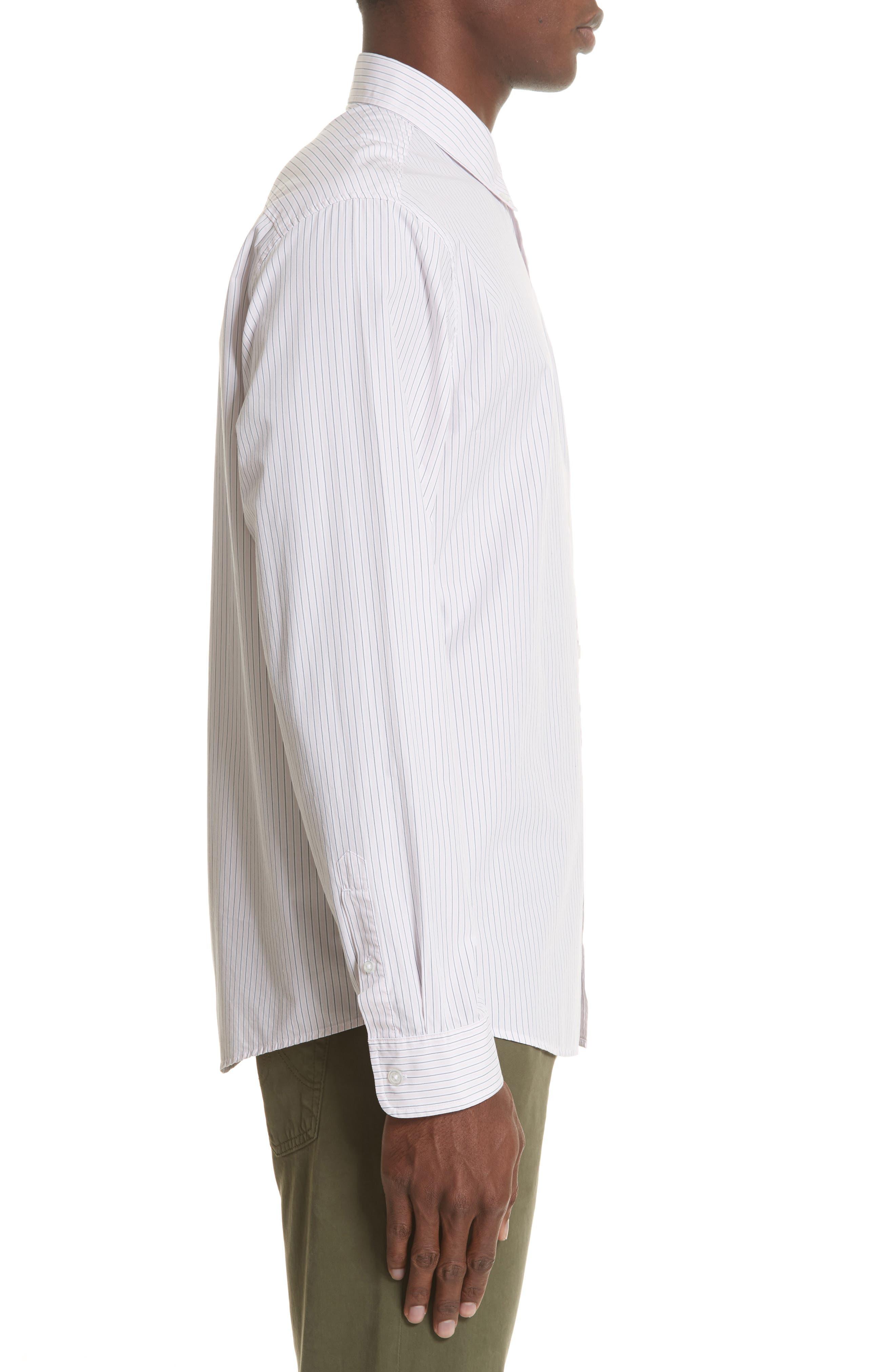 Crane Stripe Woven Shirt,                             Alternate thumbnail 3, color,                             630