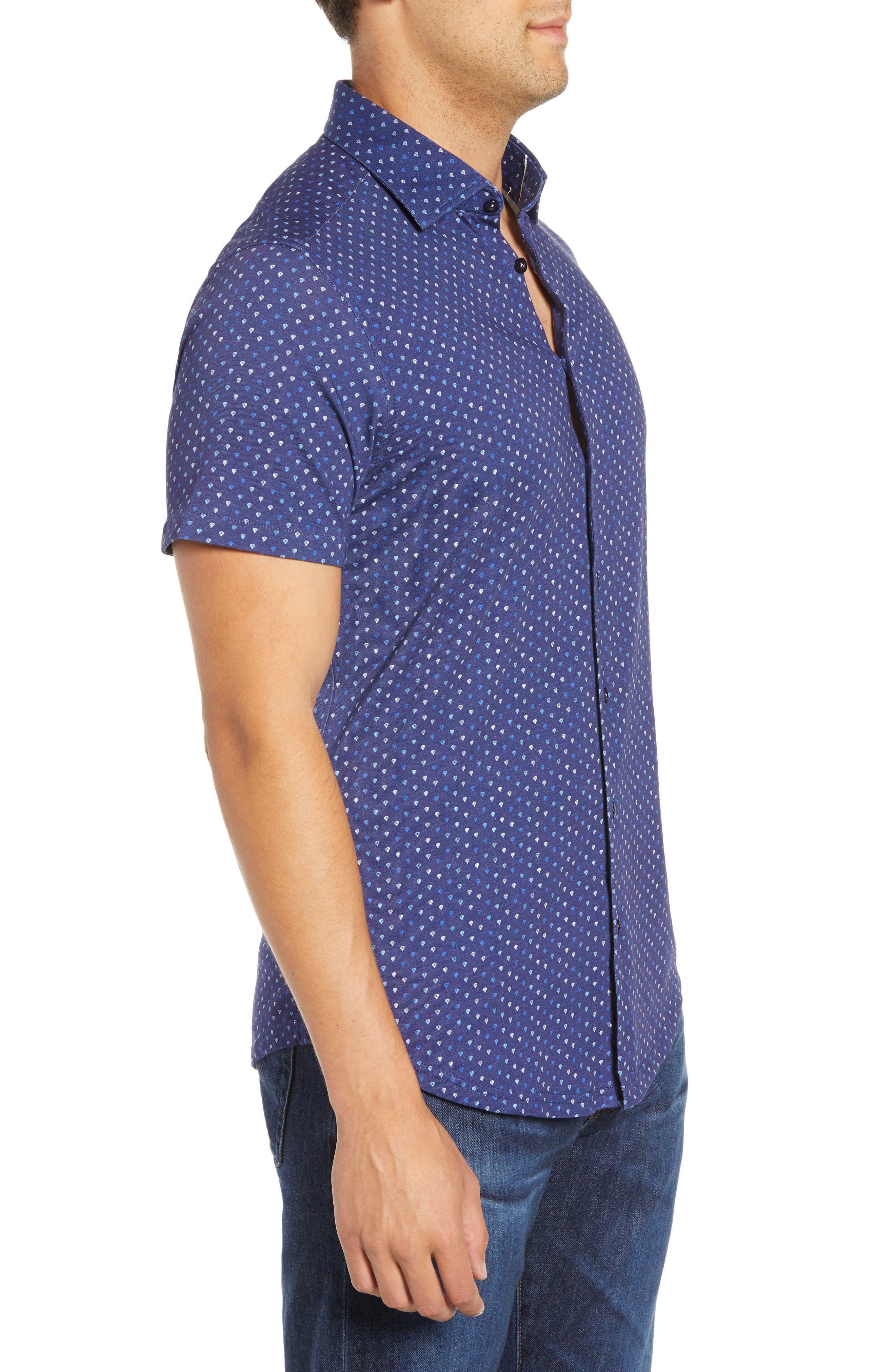 Regular Fit Sport Shirt,                             Alternate thumbnail 4, color,                             NAVY
