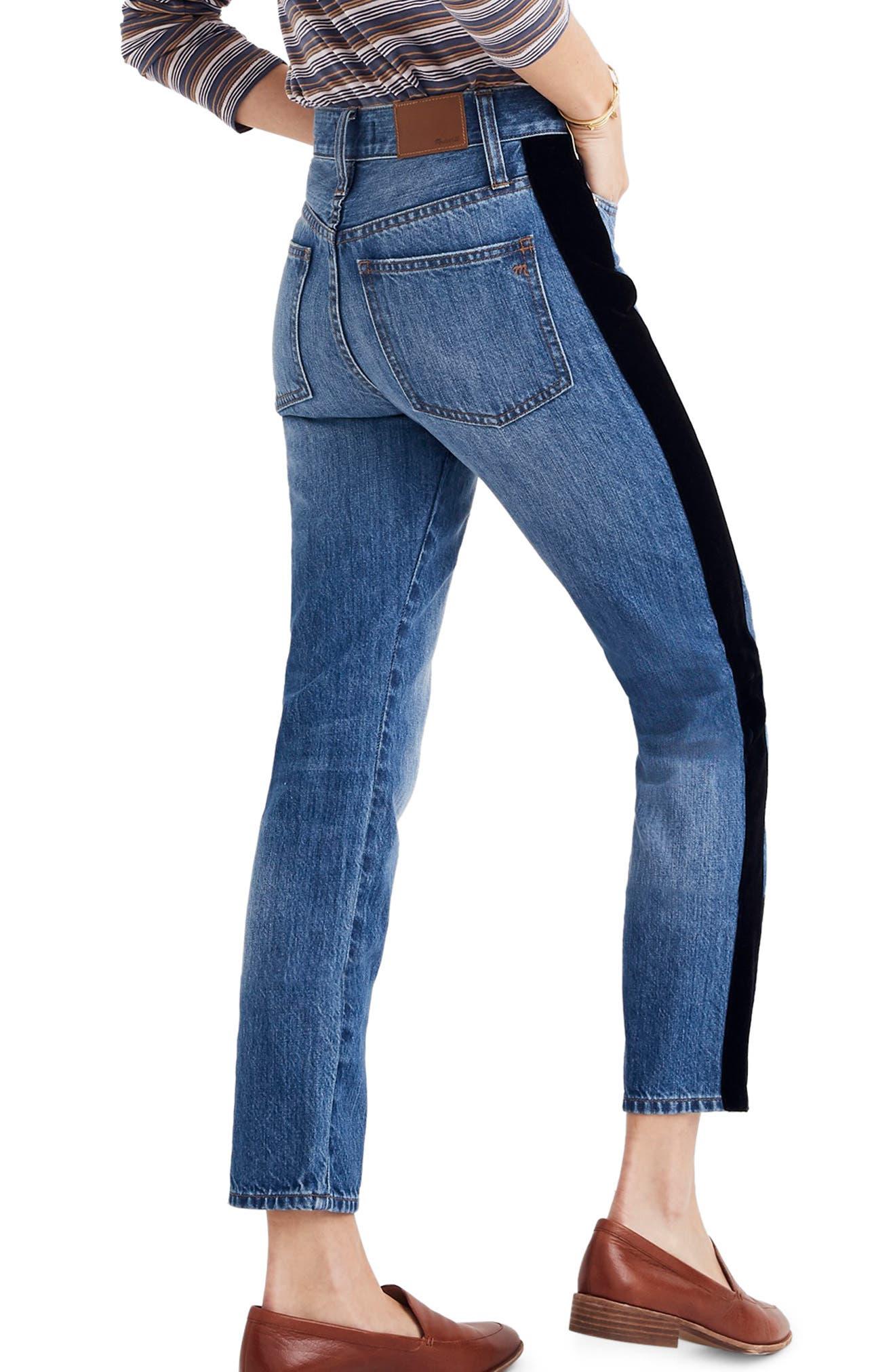The Perfect Vintage Velvet Tux Stripe Jeans,                             Alternate thumbnail 2, color,                             BANBURY WASH