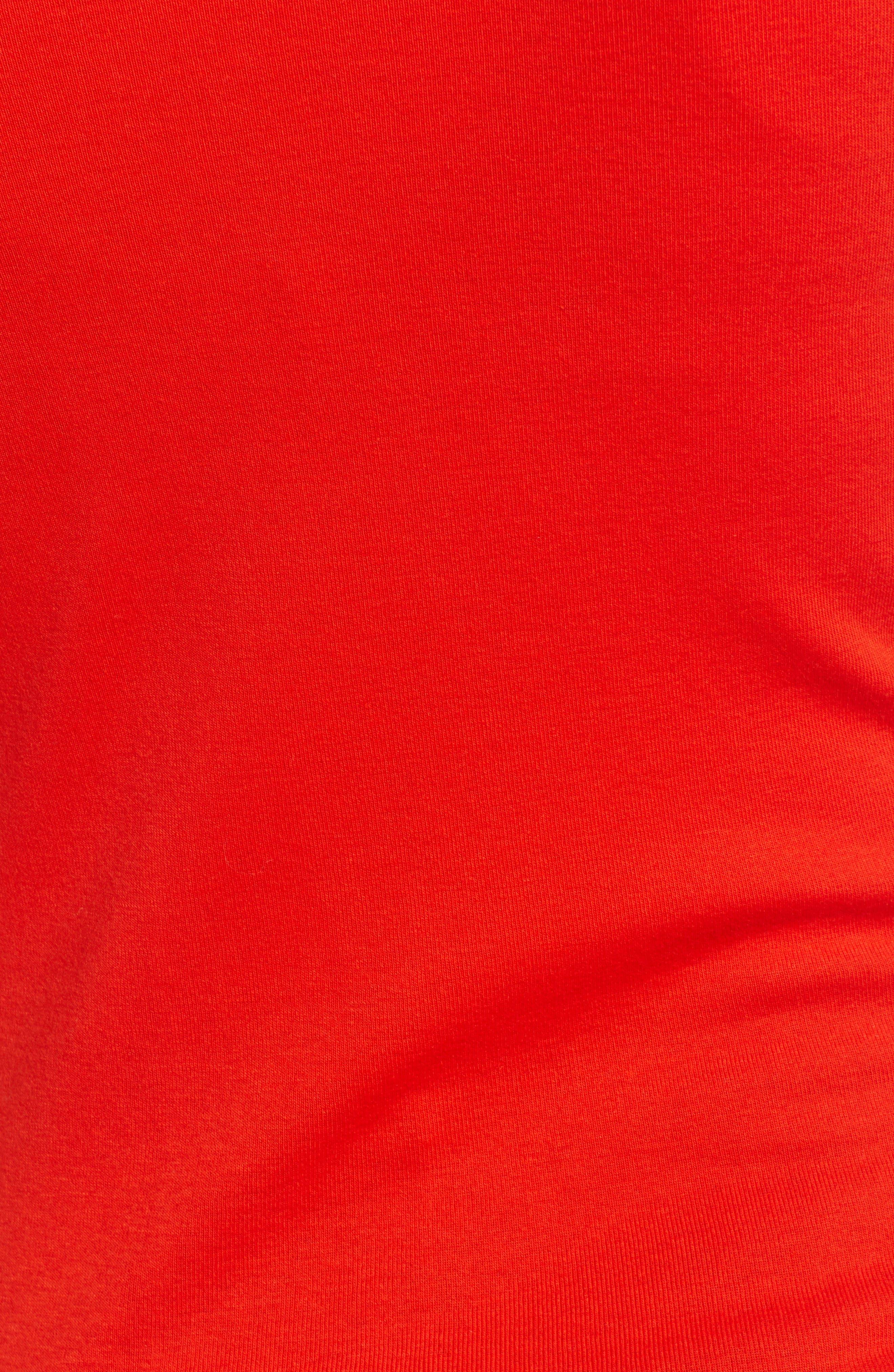 Crewneck Cotton Blend Top,                             Alternate thumbnail 5, color,                             612