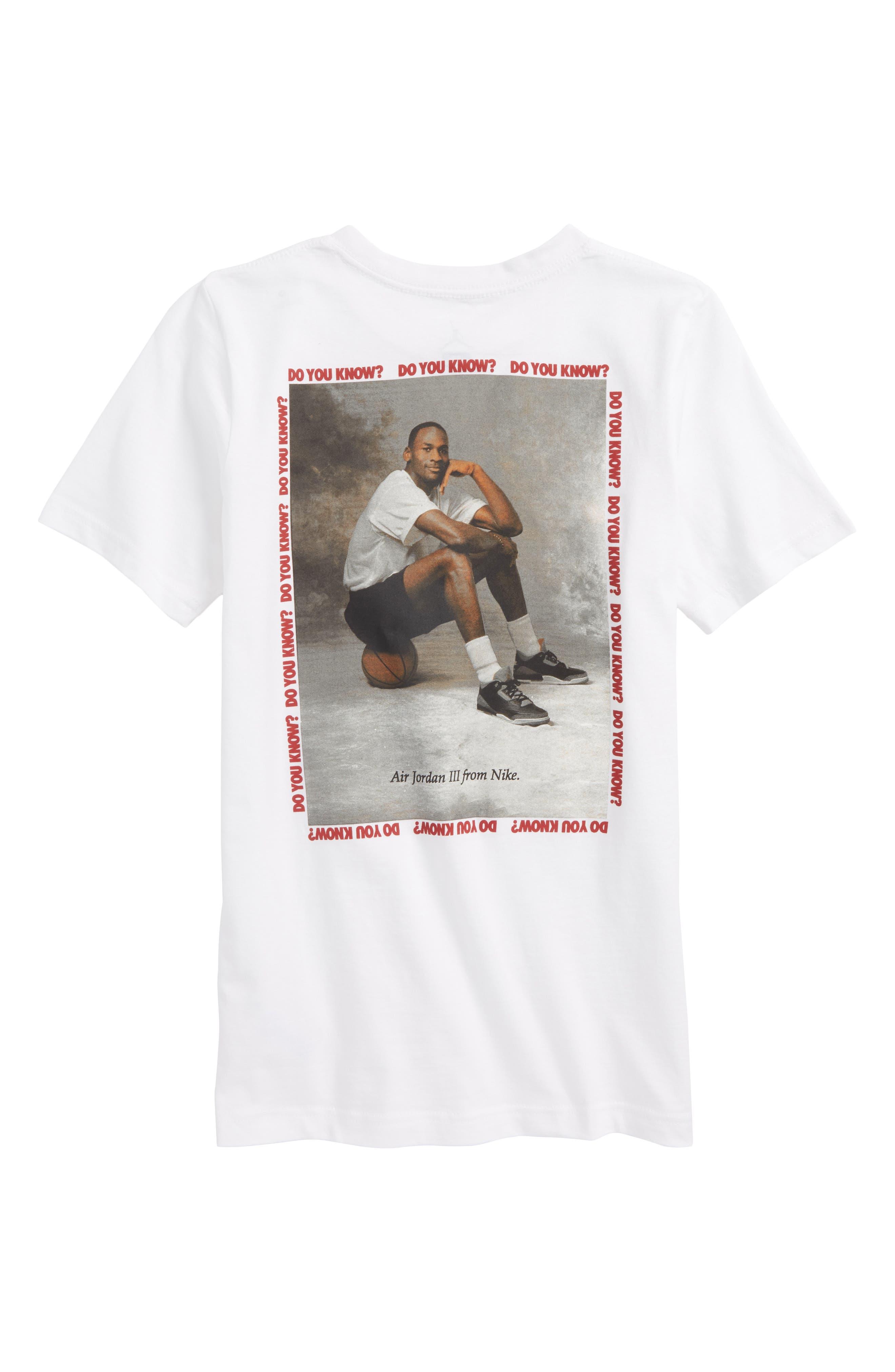 Jordan AJ3 Photo Graphic T-Shirt,                             Alternate thumbnail 4, color,
