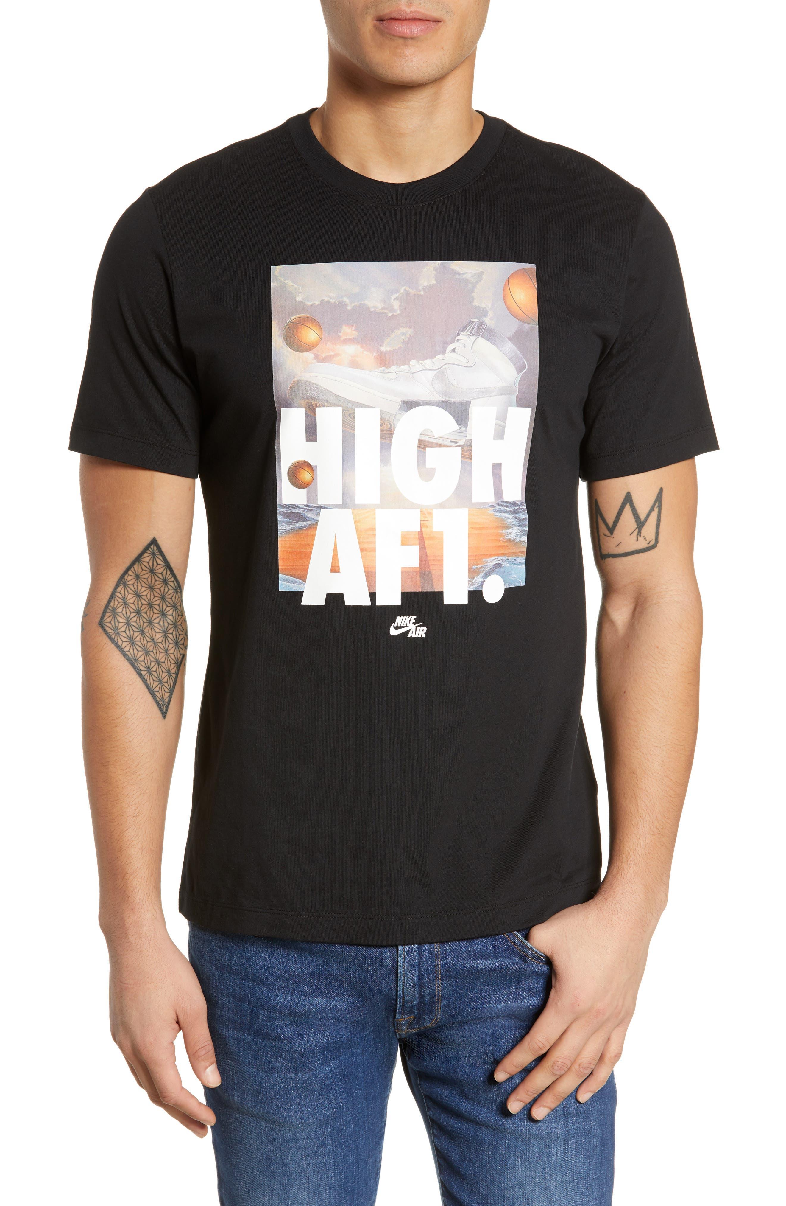 Air Force 1 T-Shirt, Main, color, BLACK