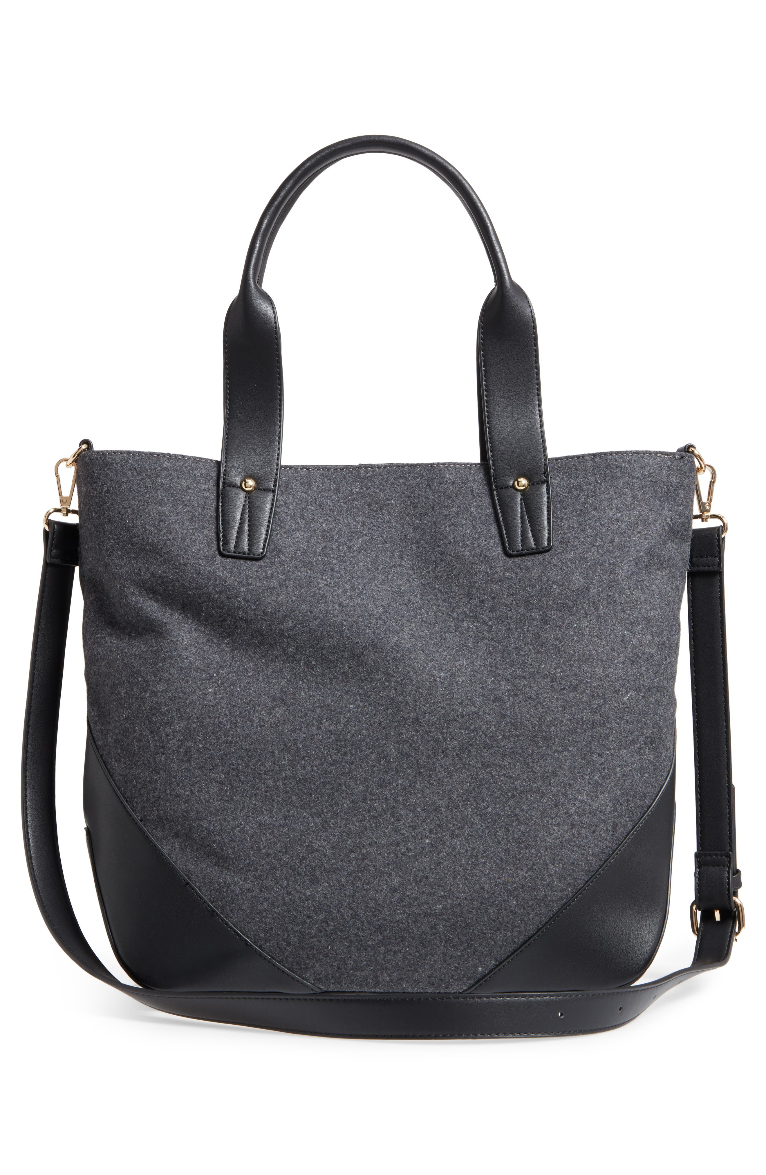 Flannel Tote,                             Alternate thumbnail 3, color,                             020