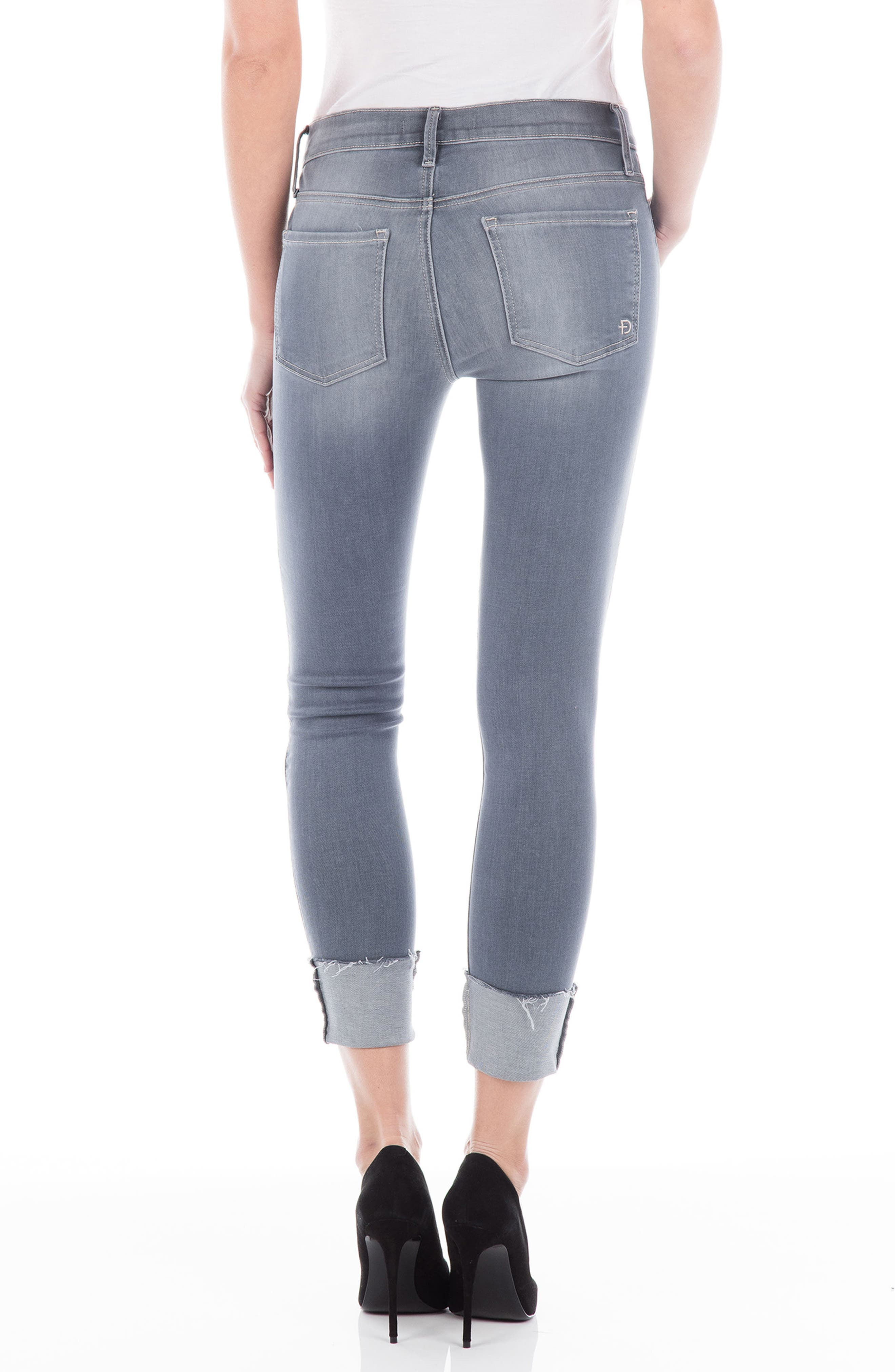 Belvedere Crop Skinny Jeans,                             Alternate thumbnail 2, color,                             CHROME
