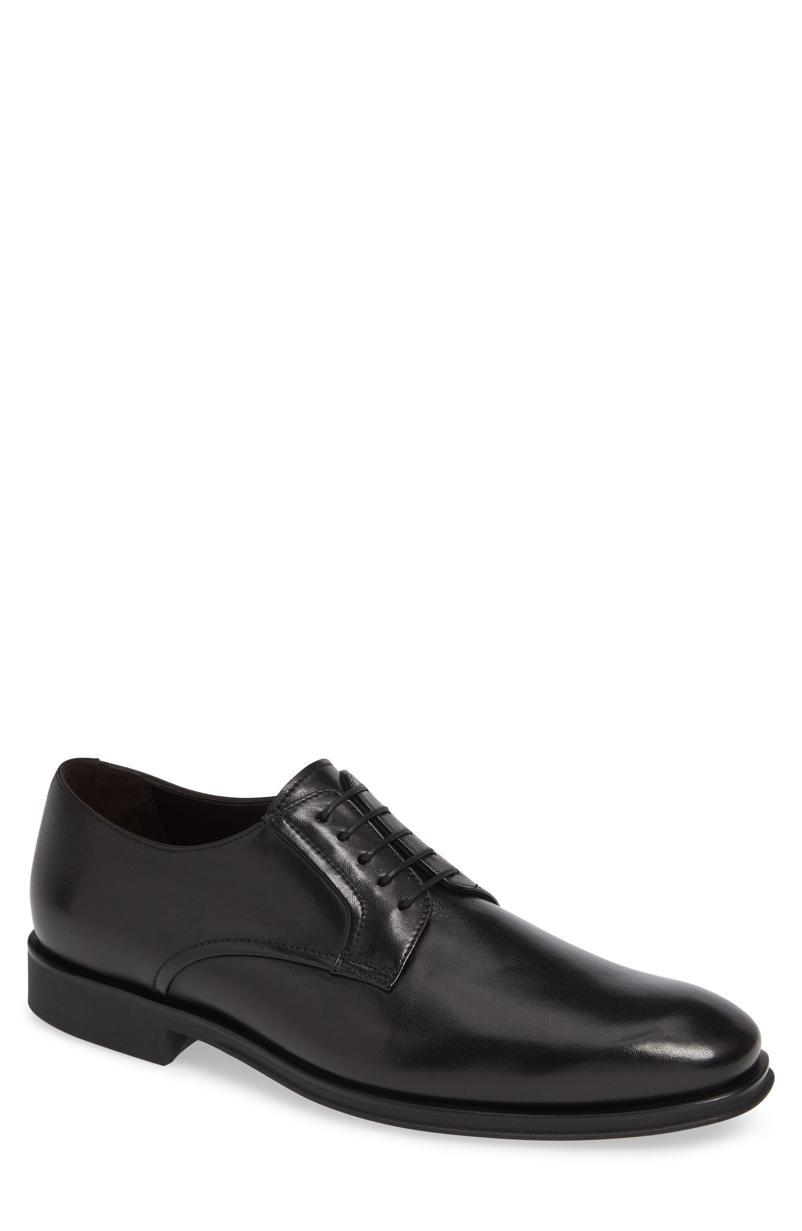 MS Zurich Oxford,                             Main thumbnail 1, color,                             BLACK LEATHER