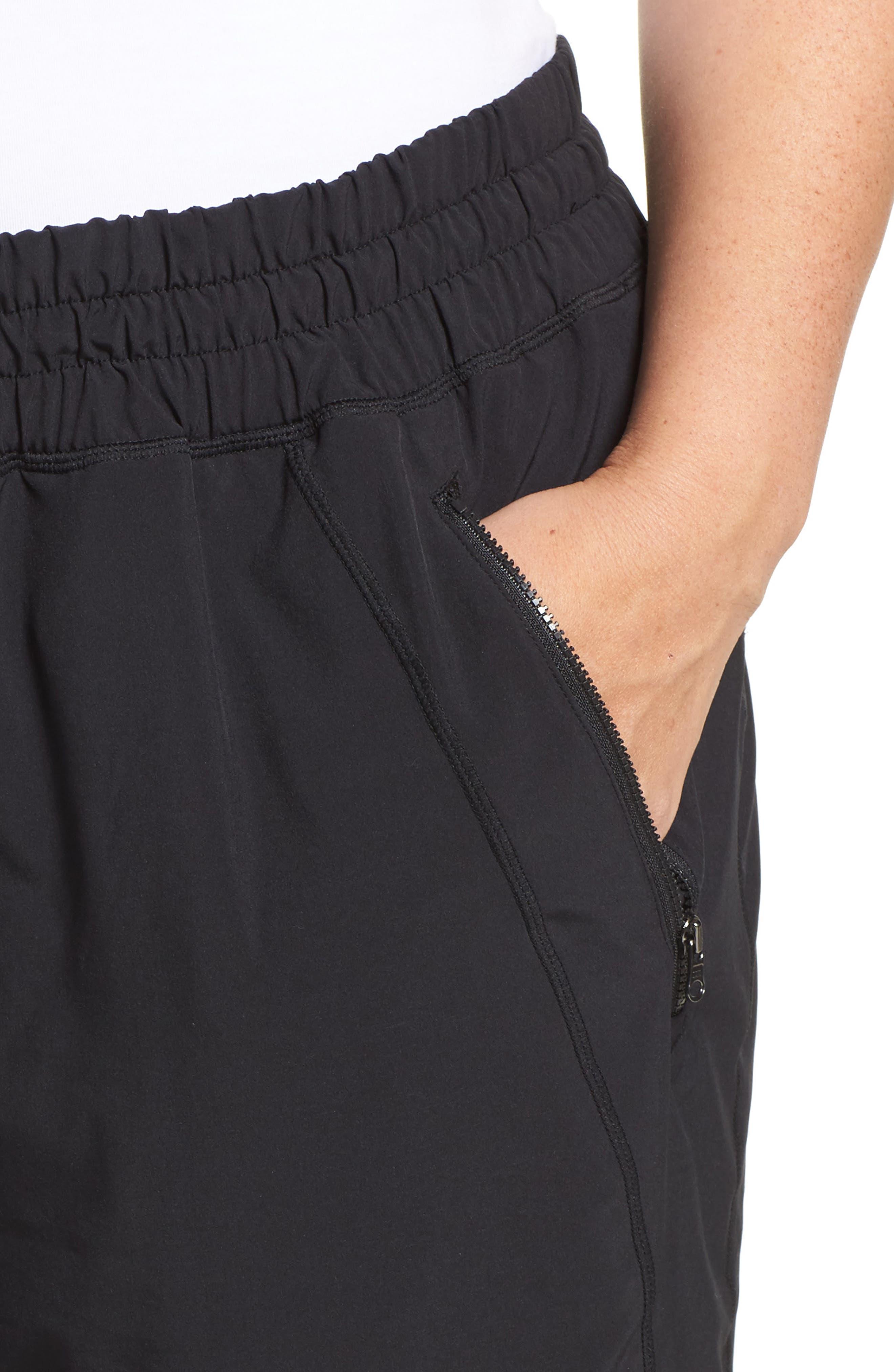 Out & About 2 Crop Pants,                             Alternate thumbnail 4, color,                             BLACK