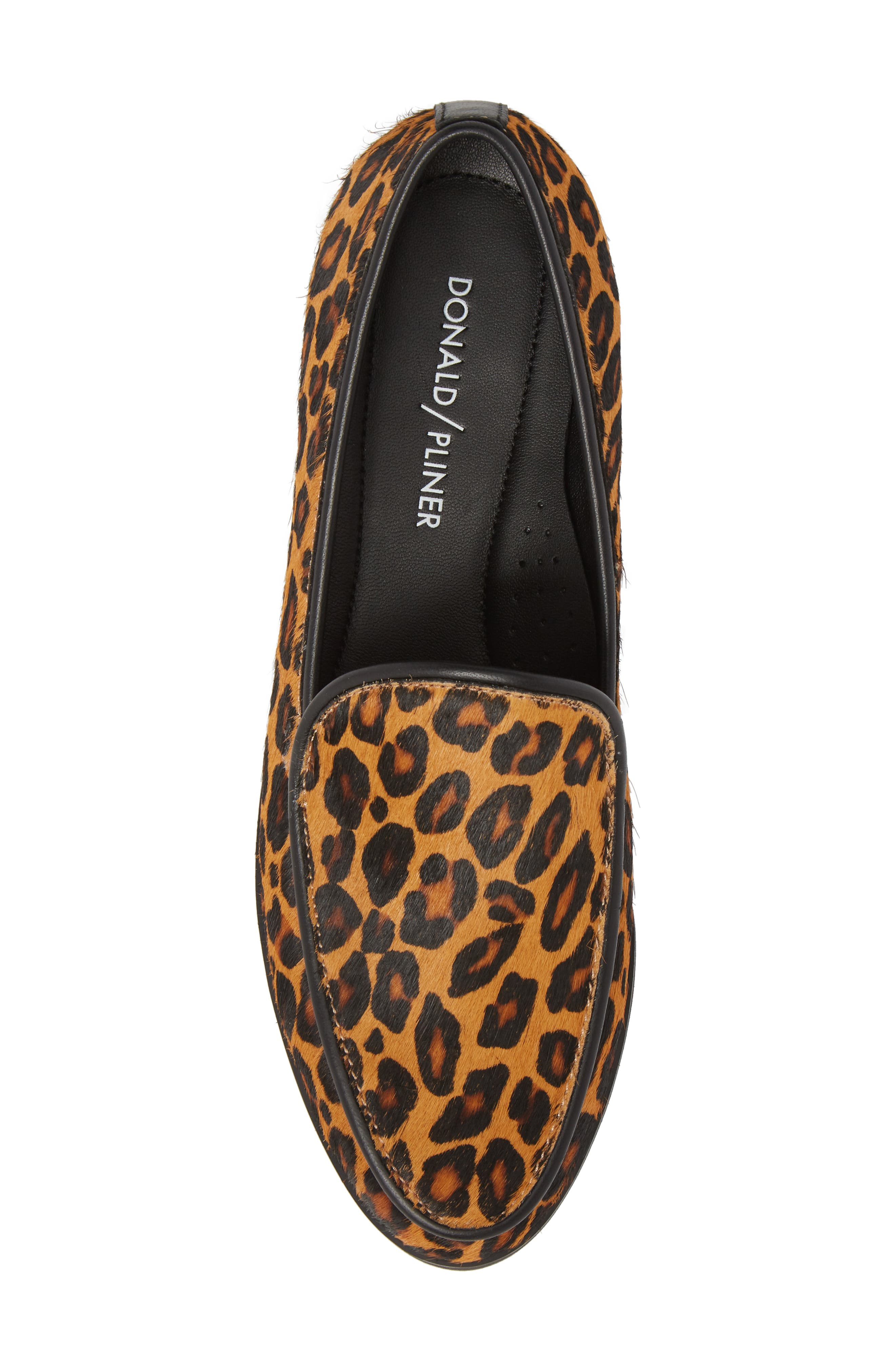 Enza Lug Sole Loafer,                             Alternate thumbnail 5, color,                             LEOPARD PRINT HAIRCALF