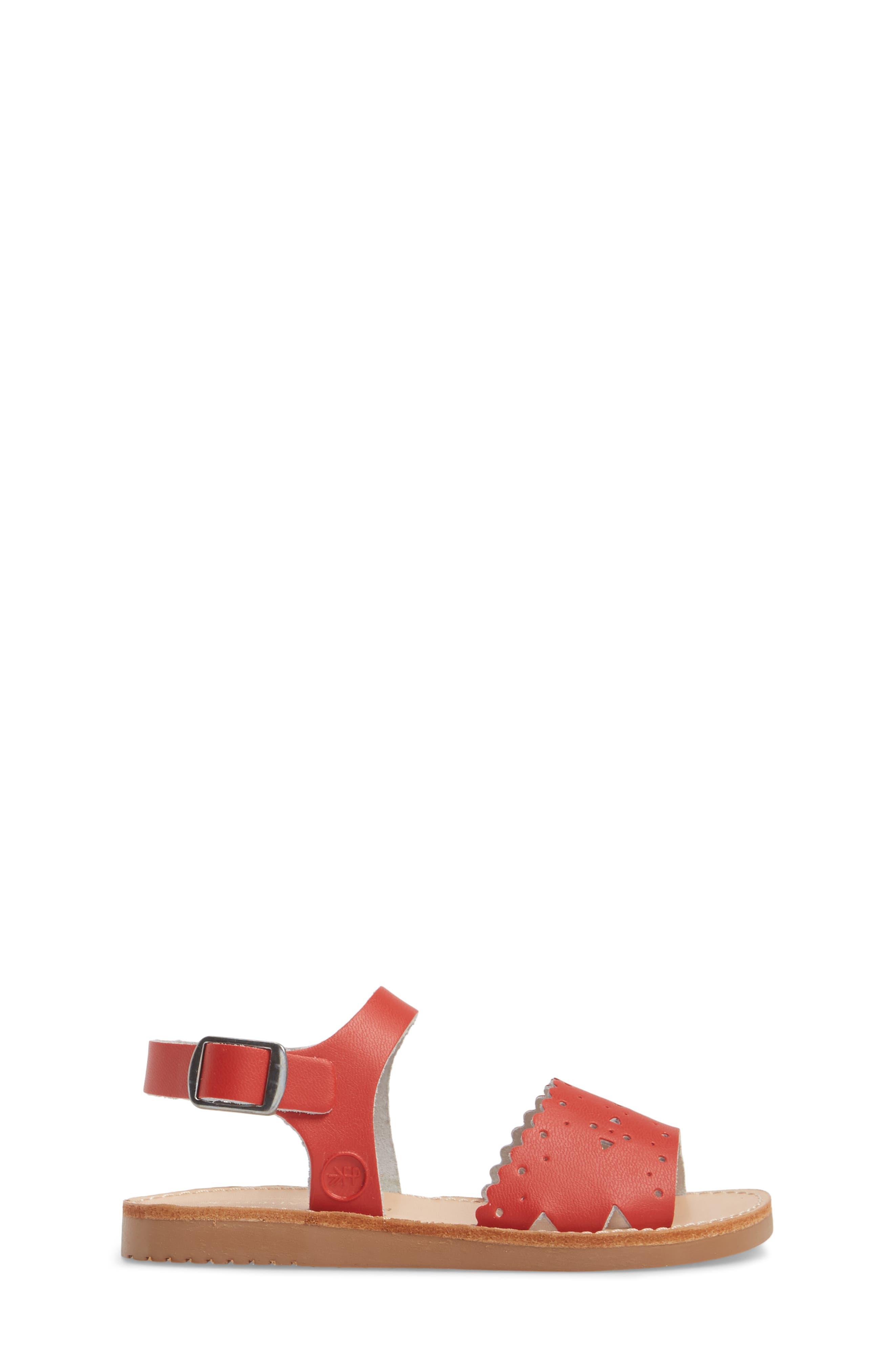 Laguna Water Resistant Perforated Sandal,                             Alternate thumbnail 3, color,                             CHERRY