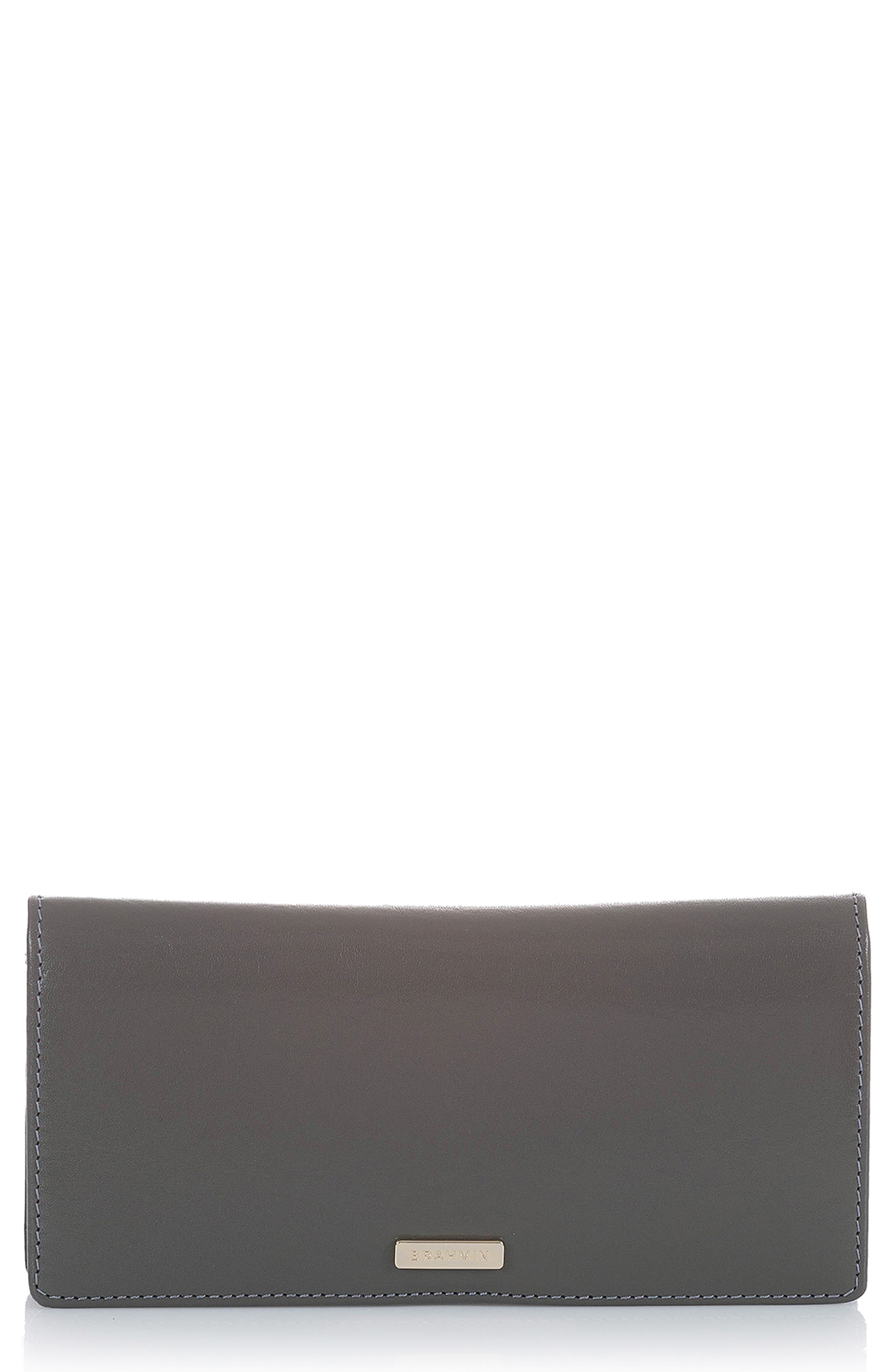 Ady Leather Wallet,                             Main thumbnail 1, color,                             CHARCOAL