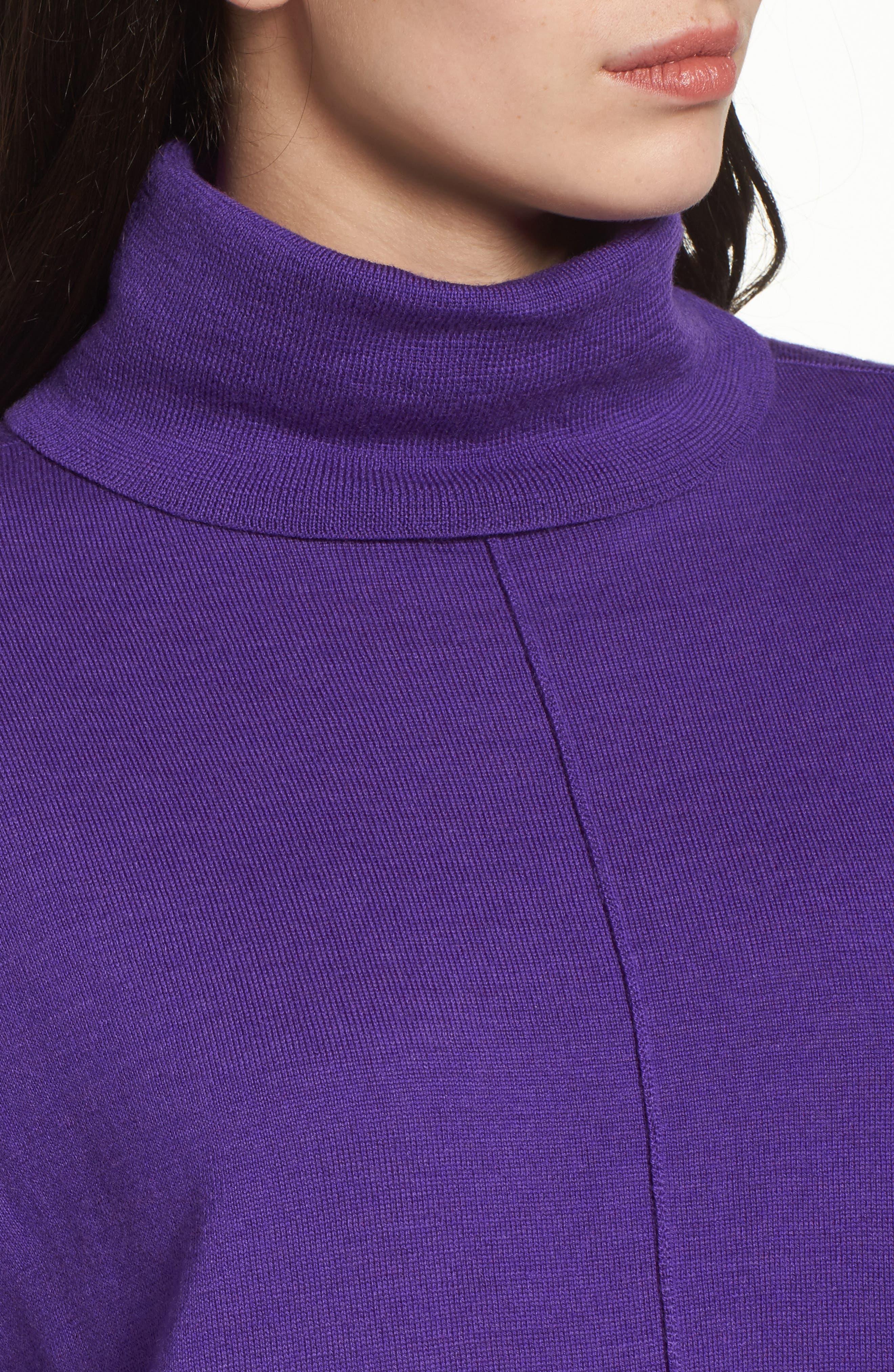 Merino Wool Boxy Turtleneck Sweater,                             Alternate thumbnail 23, color,
