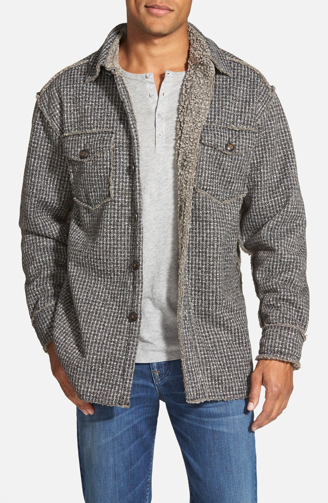 Lined Tweed Shirt Jacket, Main, color, 033