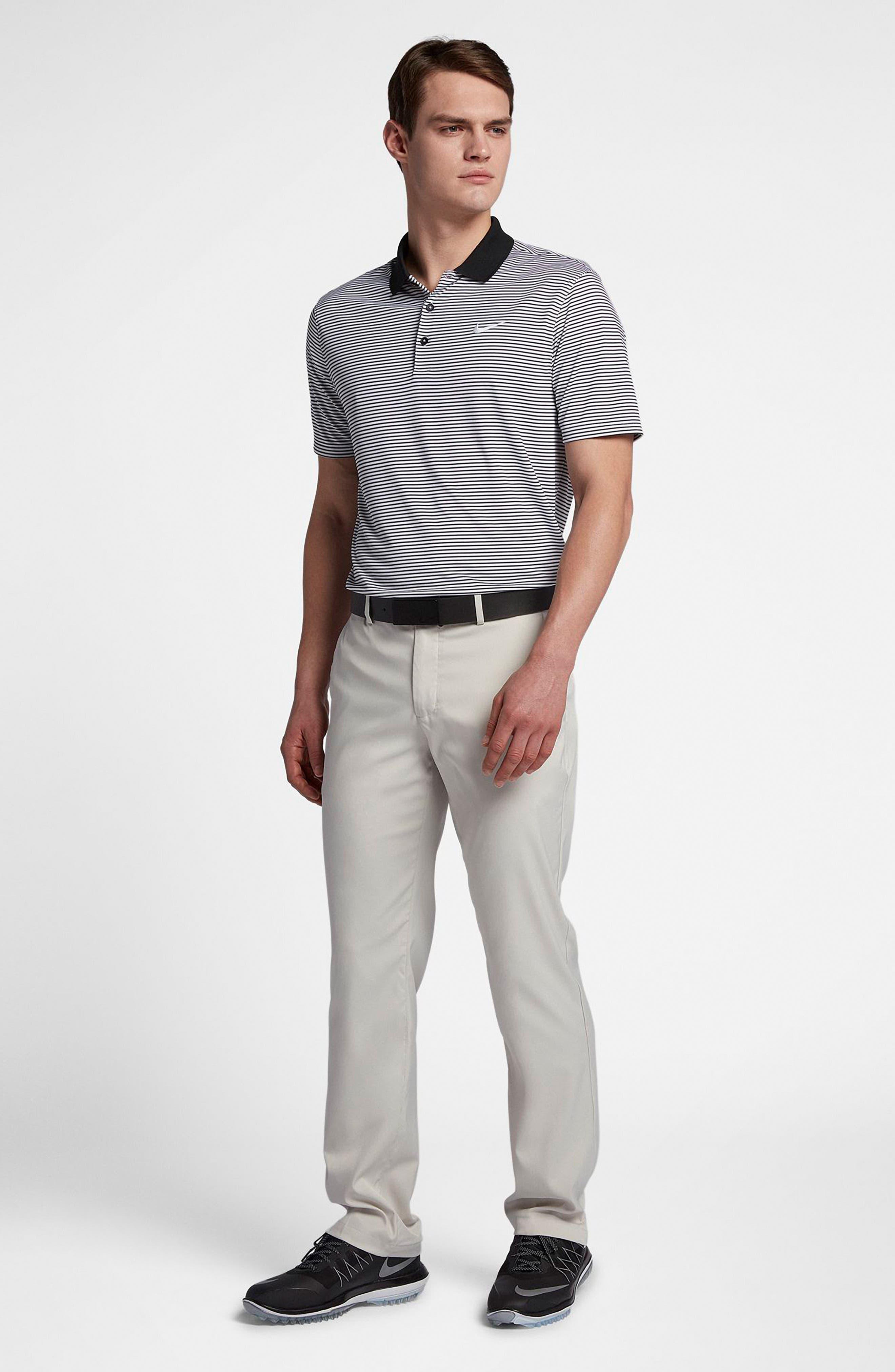 Flat Front Dri-FIT Tech Golf Pants,                             Alternate thumbnail 6, color,                             LIGHT BONE/ LIGHT BONE