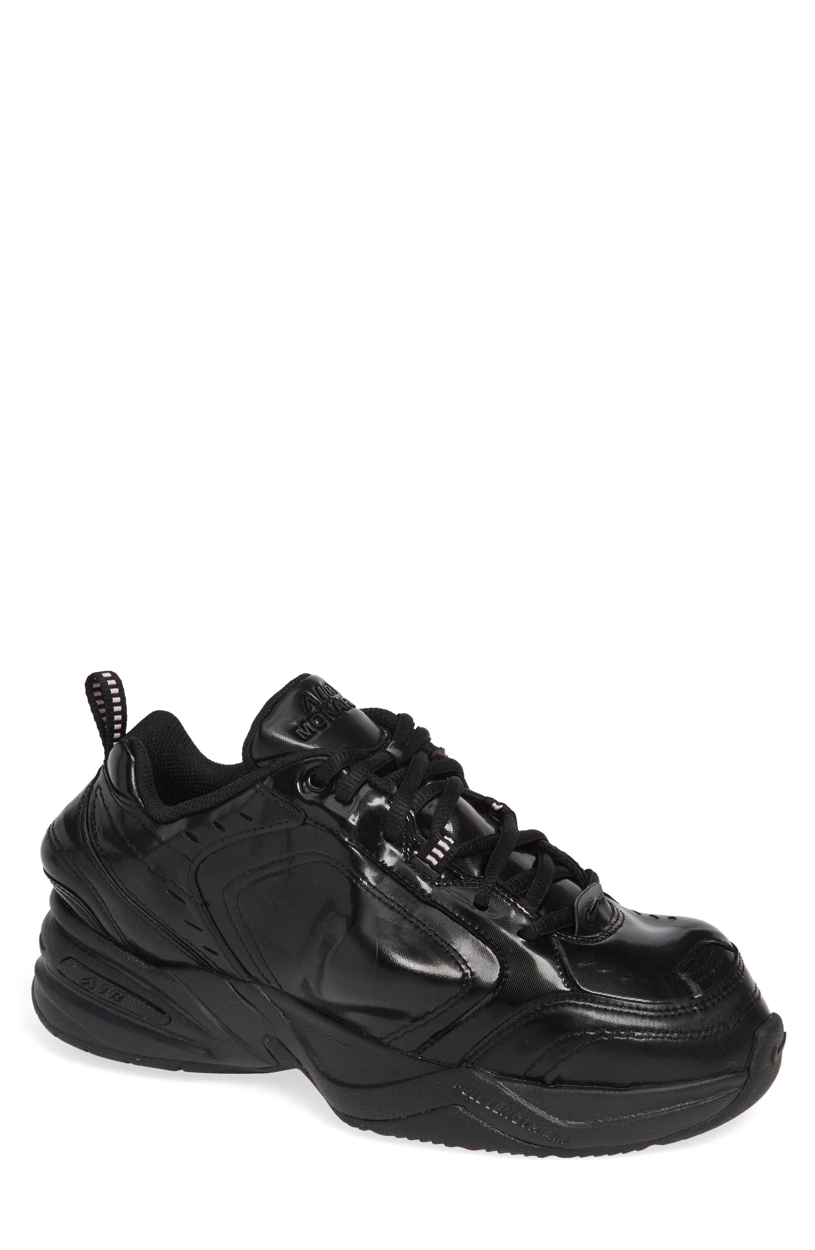 x Martine Rose Air Monarch IV Sneaker,                         Main,                         color, BLACK/ SOFT PINK