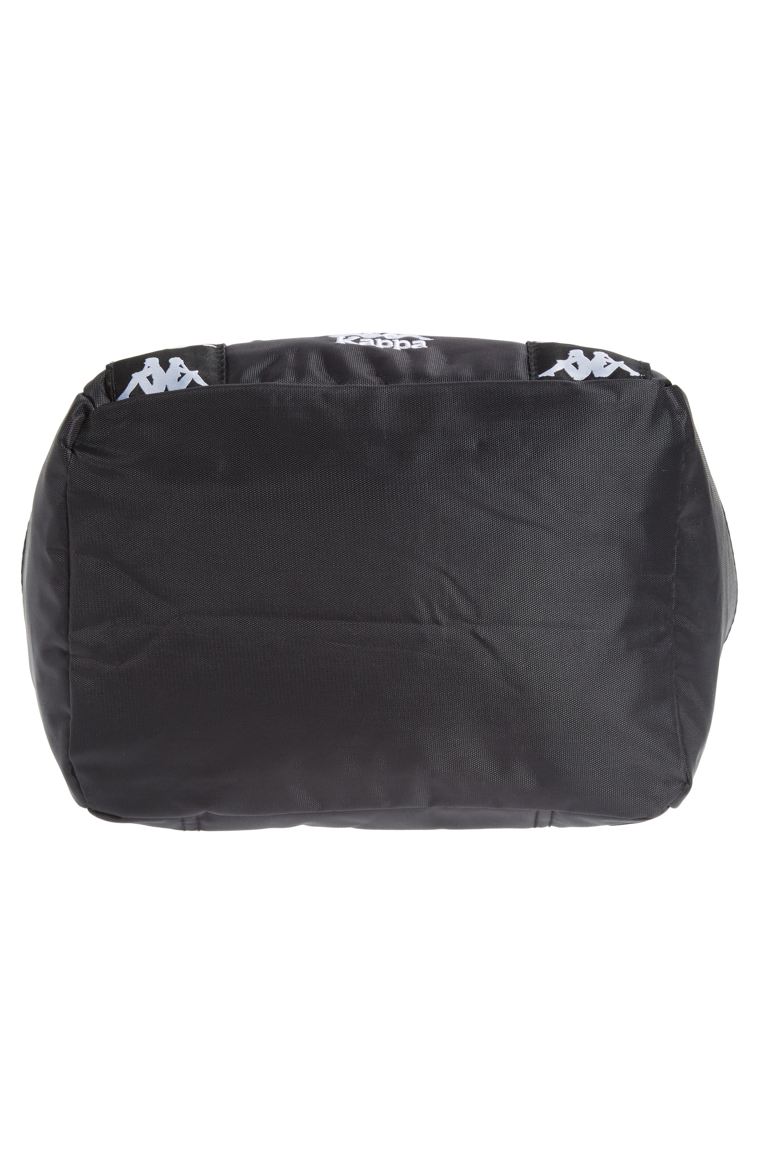 Medium Athletic Backpack,                             Alternate thumbnail 6, color,                             BLACK-WHITE