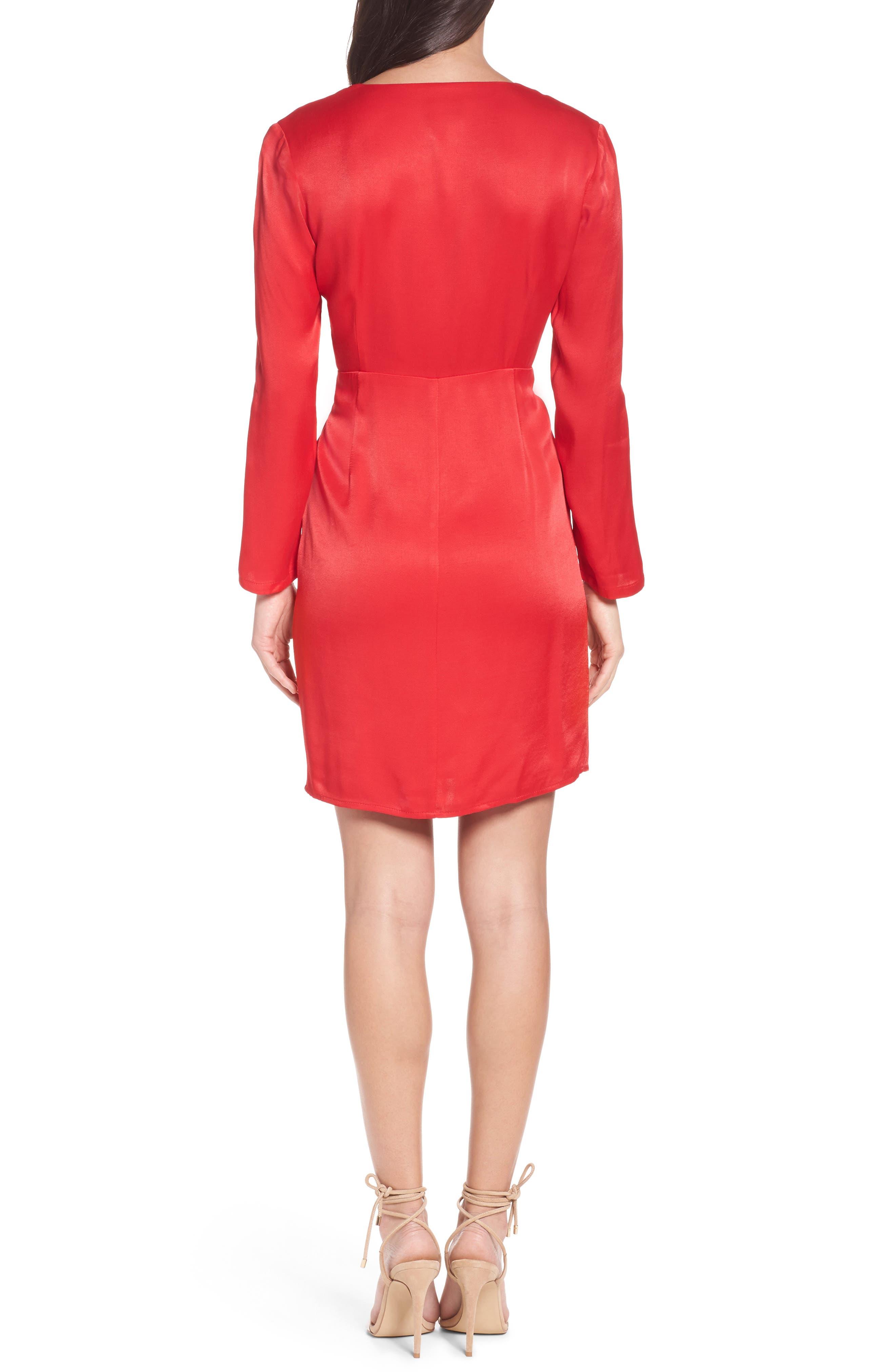 Satin Wrap Dress,                             Alternate thumbnail 2, color,
