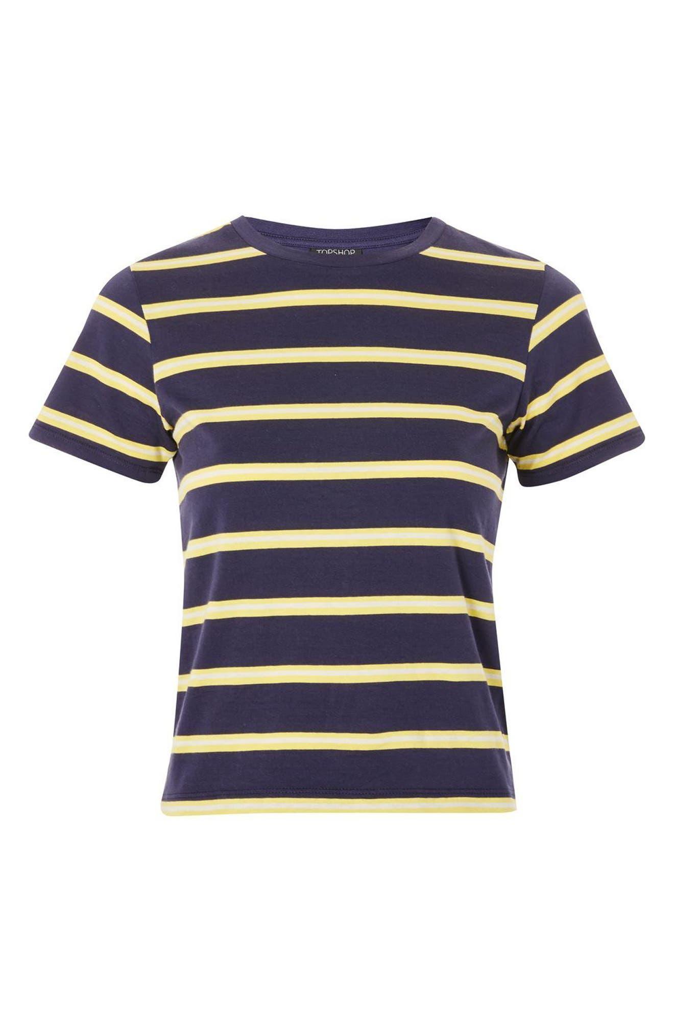 70s Stripe T-Shirt,                             Alternate thumbnail 3, color,                             411