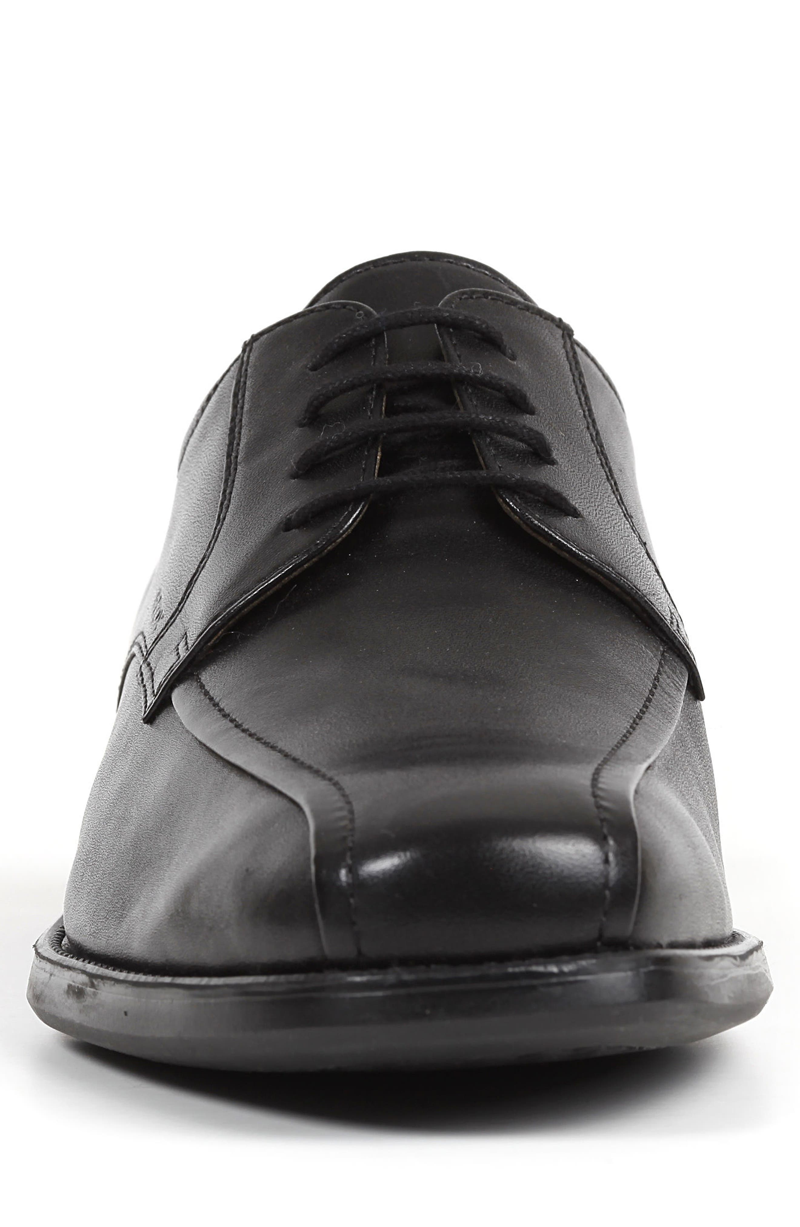 Federico 10 Lace-Up Derby,                             Alternate thumbnail 4, color,                             BLACK LEATHER